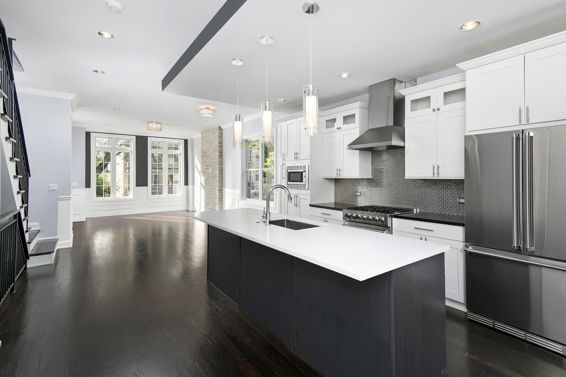 Частный односемейный дом для того Продажа на Remarkable New Construction 4847 S Champlain Avenue Hyde Park, Chicago, Иллинойс, 60615 Соединенные Штаты