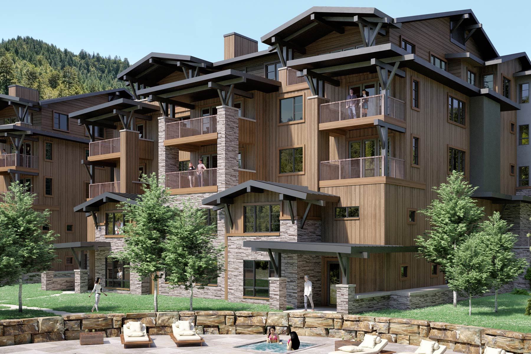 Piso por un Venta en New Construction Mountain Lake Condo 2 Summit View Road, Unit 402 Big Sky, Montana 59716 Estados Unidos