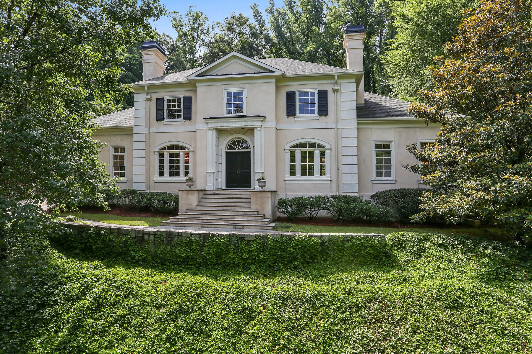 Casa Unifamiliar por un Venta en Majestic Hilltop Residence 25 Asheworth Court Buckhead, Atlanta, Georgia 30327 Estados Unidos