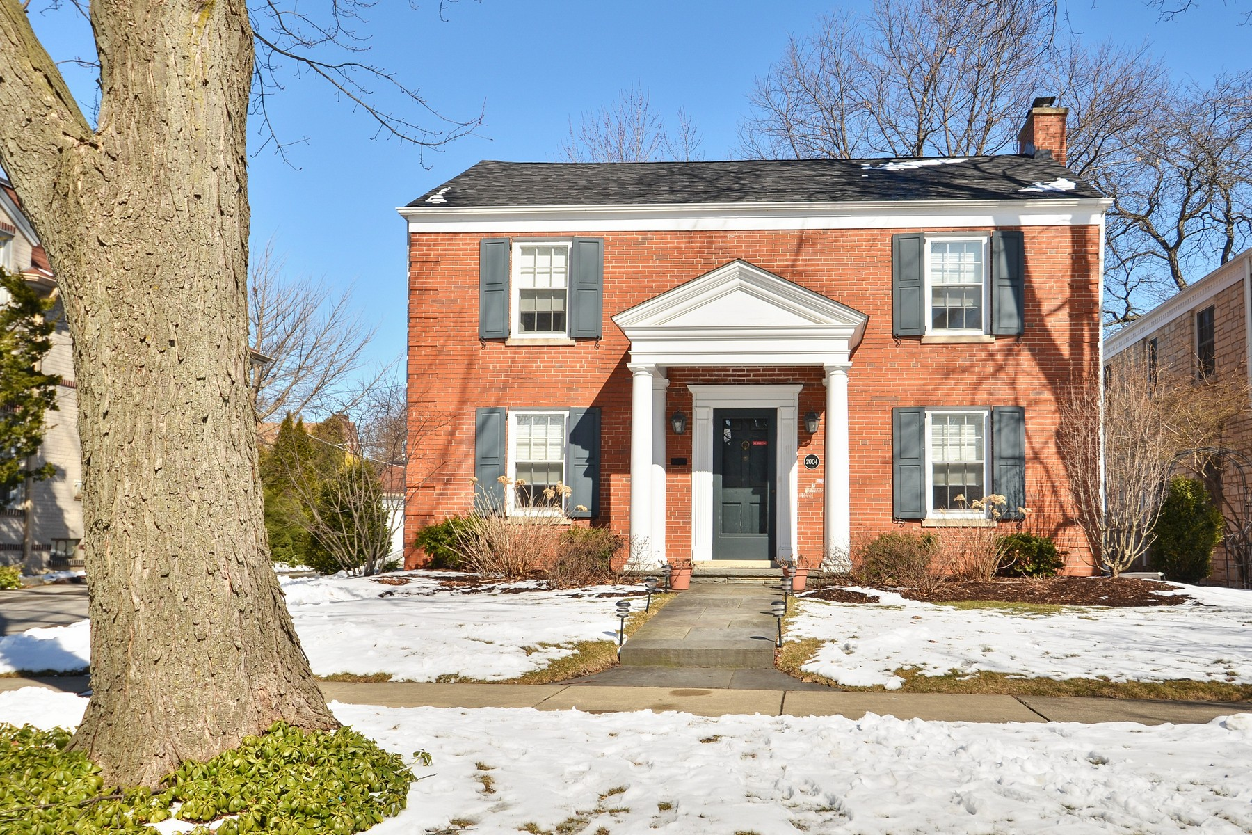 sales property at Beautiful Brick Center entry Colonial