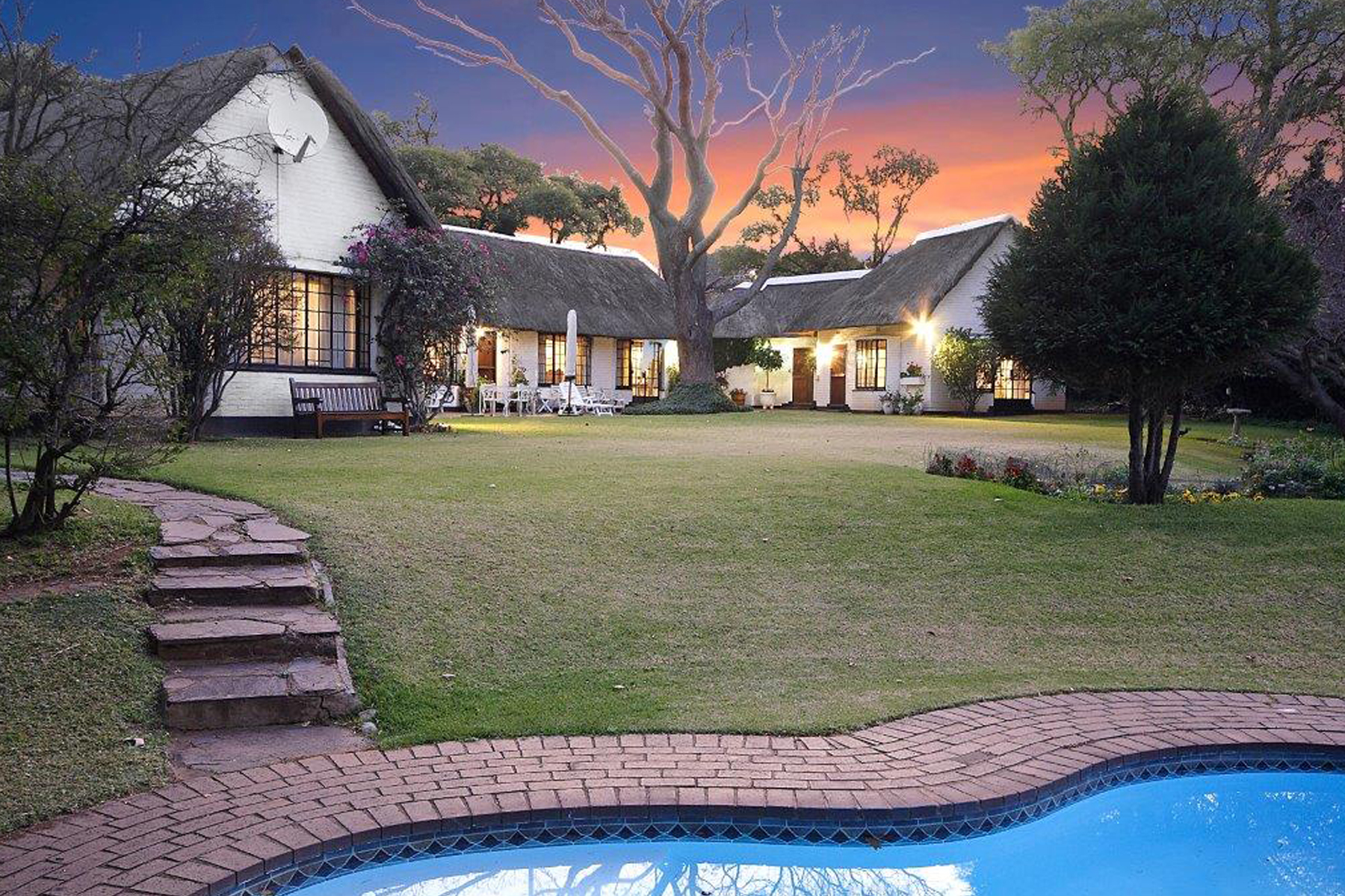 Multi-Family Home for Sale at Farm thatch house with cottage on 3,000 sqm Johannesburg, Gauteng 2196 South Africa