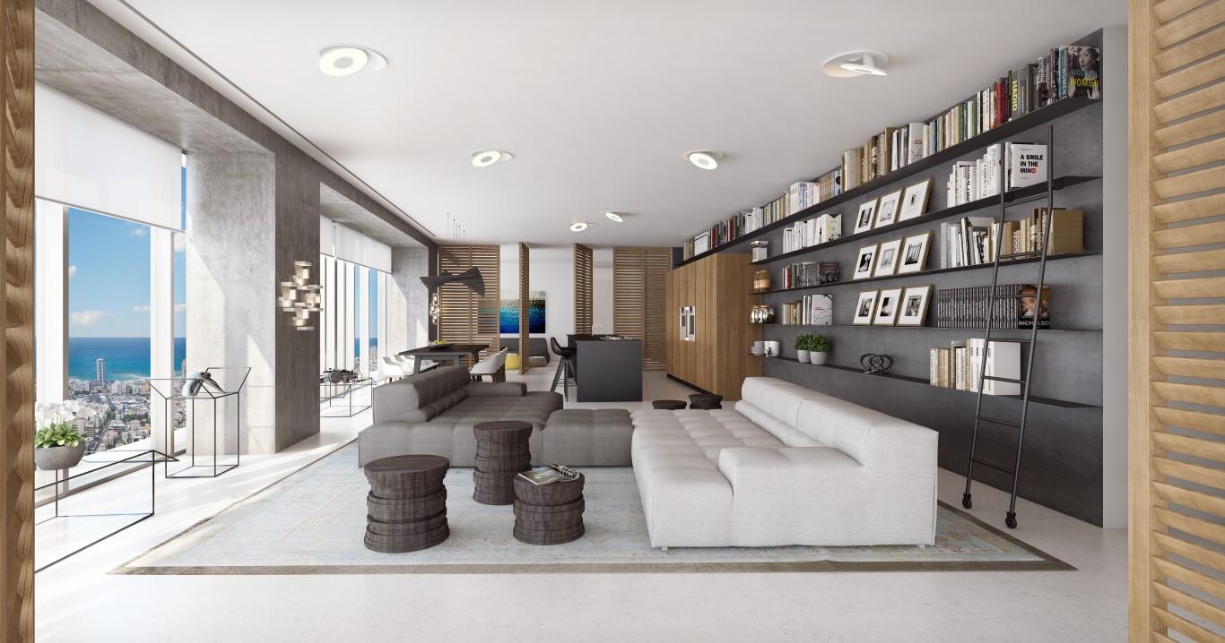 Квартира для того Продажа на Spectacular half a floor at Meier On Rothschild Tel Aviv, 61999 Израиль