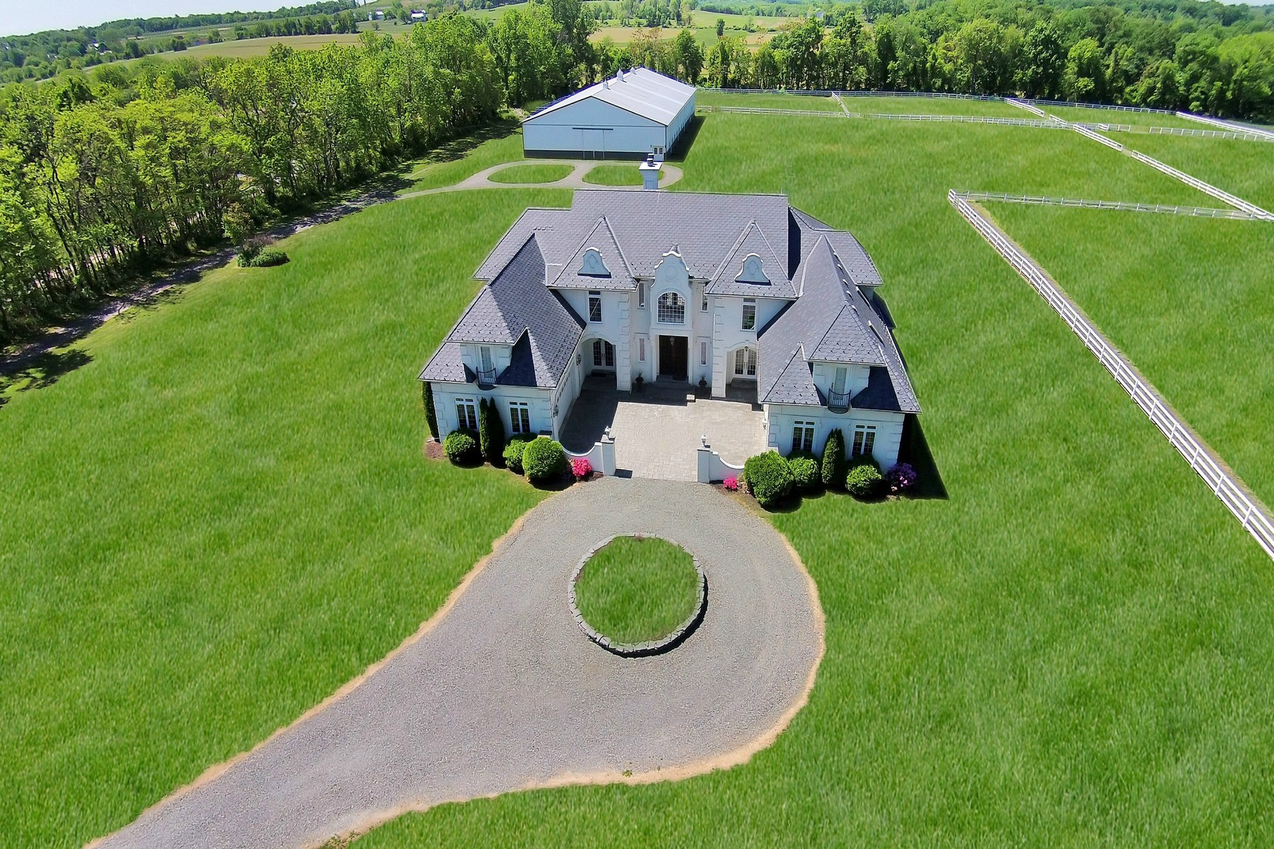 Single Family Home for Sale at Luxurious French Manor with Equine Facility 3-5 Hill and Dale Califon, 07830 United States