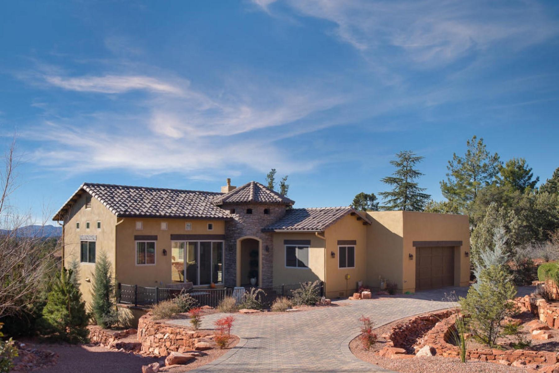 Vivienda unifamiliar por un Venta en Beautiful Mediterranean style home 15 Cliff View Court Sedona, Arizona 86336 Estados Unidos