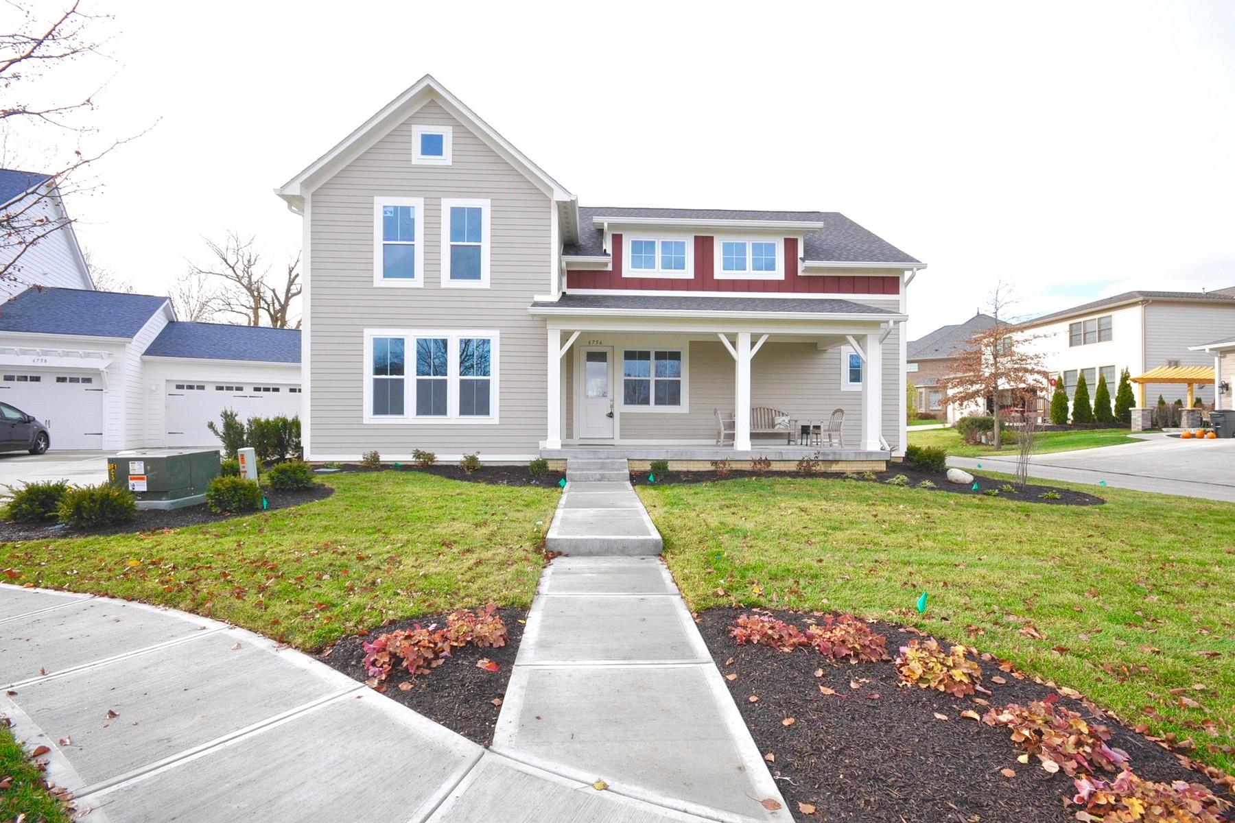 Частный односемейный дом для того Продажа на The Finest Finishes 6756 Chapel Crossing Zionsville, Индиана 46077 Соединенные Штаты