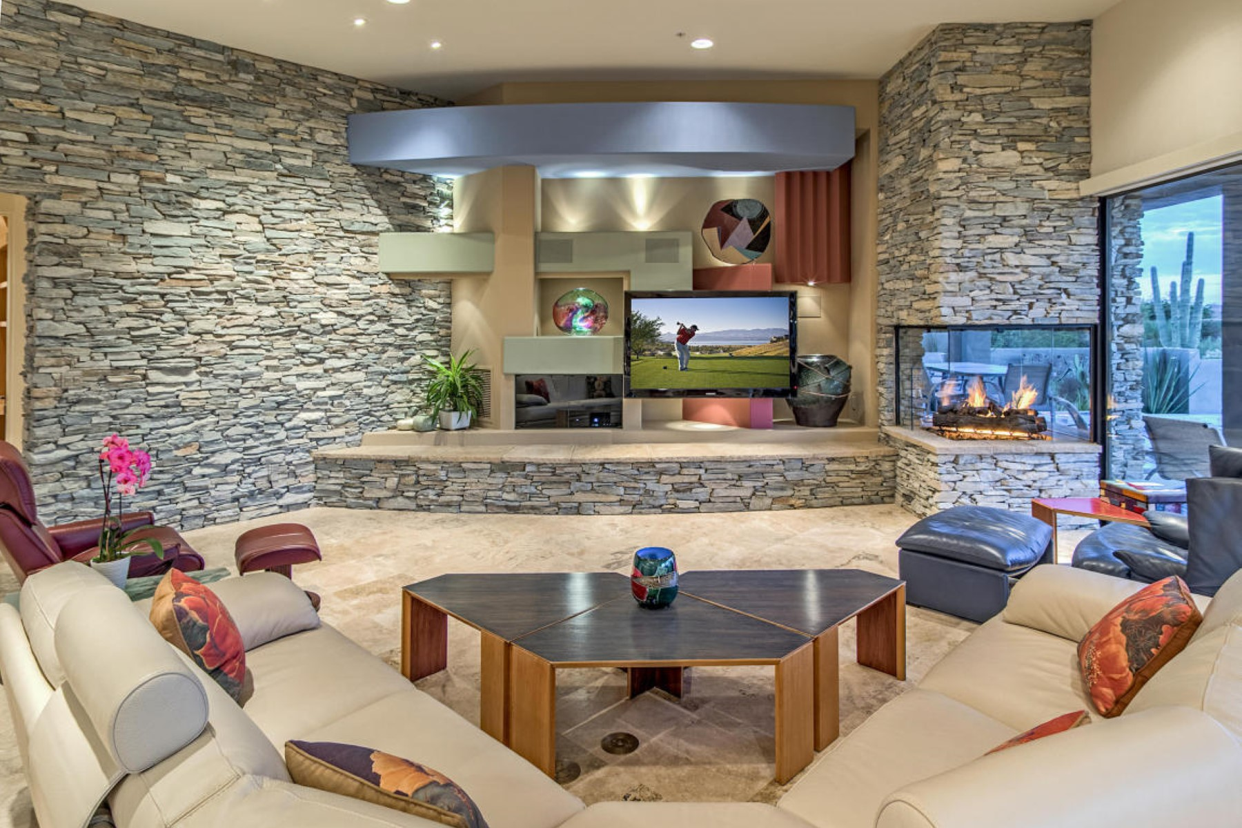 Casa para uma família para Venda às Southwest contemporary Desert Mountain home 39521 N 104th St Scottsdale, Arizona 85262 Estados Unidos