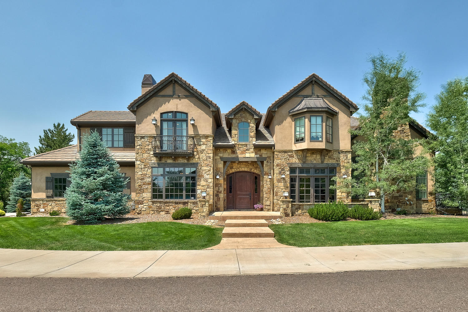 Single Family Home for Sale at Exceptional Two-Story Stone & Stucco Residence on Treed Acre 7 Layton Lane Cherry Hills Village, Colorado, 80013 United States