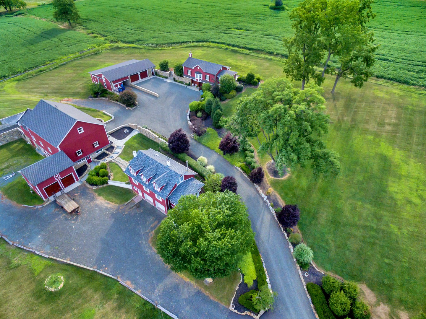 Single Family Home for Sale at Magnificently Restored Farm 109 Old Turnpike Road Tewksbury Township, New Jersey 07830 United States