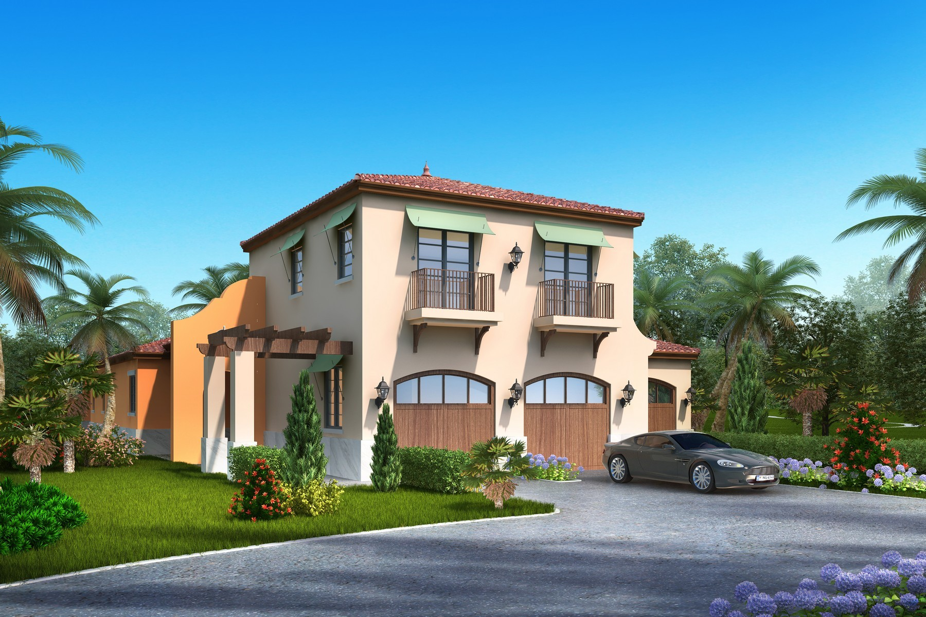 Single Family Home for Sale at To be Constructed Savvy Courtyard Home 180 Whaler Drive Melbourne Beach, Florida, 32951 United States