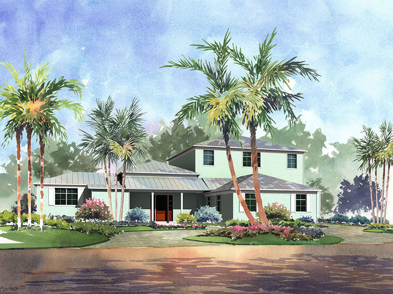 Maison unifamiliale pour l Vente à New Construction Key West Style Home at Ocean Reef 5 Halfway Road Ocean Reef Community, Key Largo, Florida 33037 États-Unis