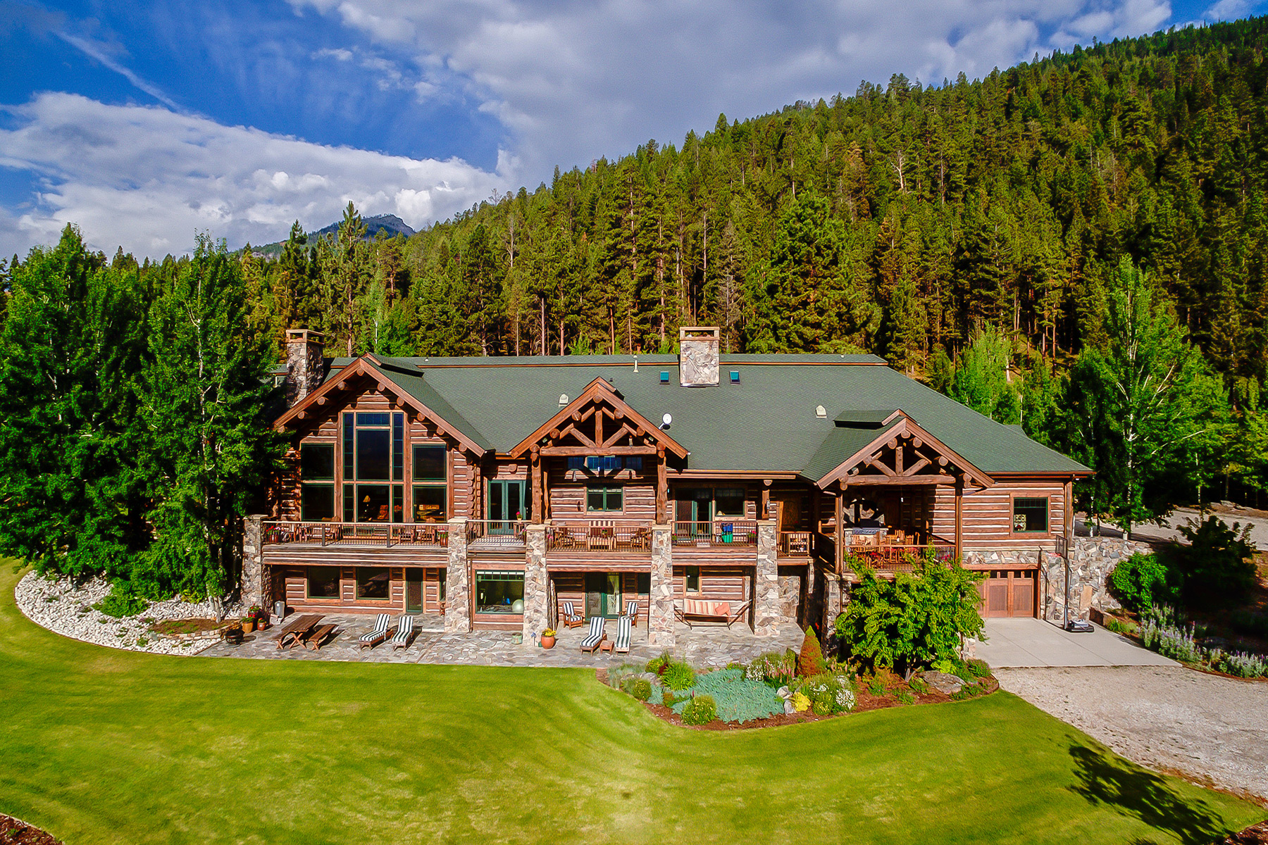 Single Family Home for Sale at Exquisite Log Home Non Disclose Victor, Montana 59875 United States
