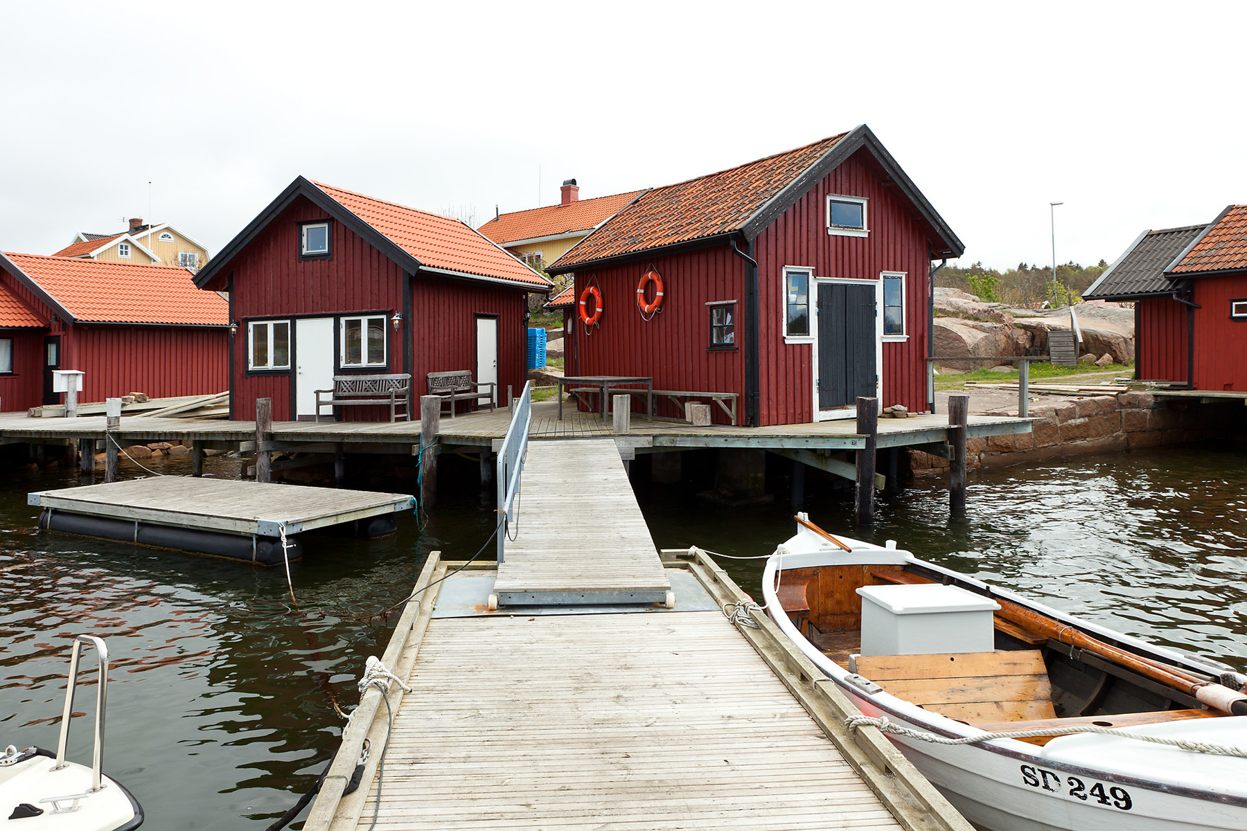 Single Family Home for Sale at Archipelago house with two boathouses and a large dock Långesjö 19 Other Vastra Gotaland, Vastra Gotaland 45741 Sweden