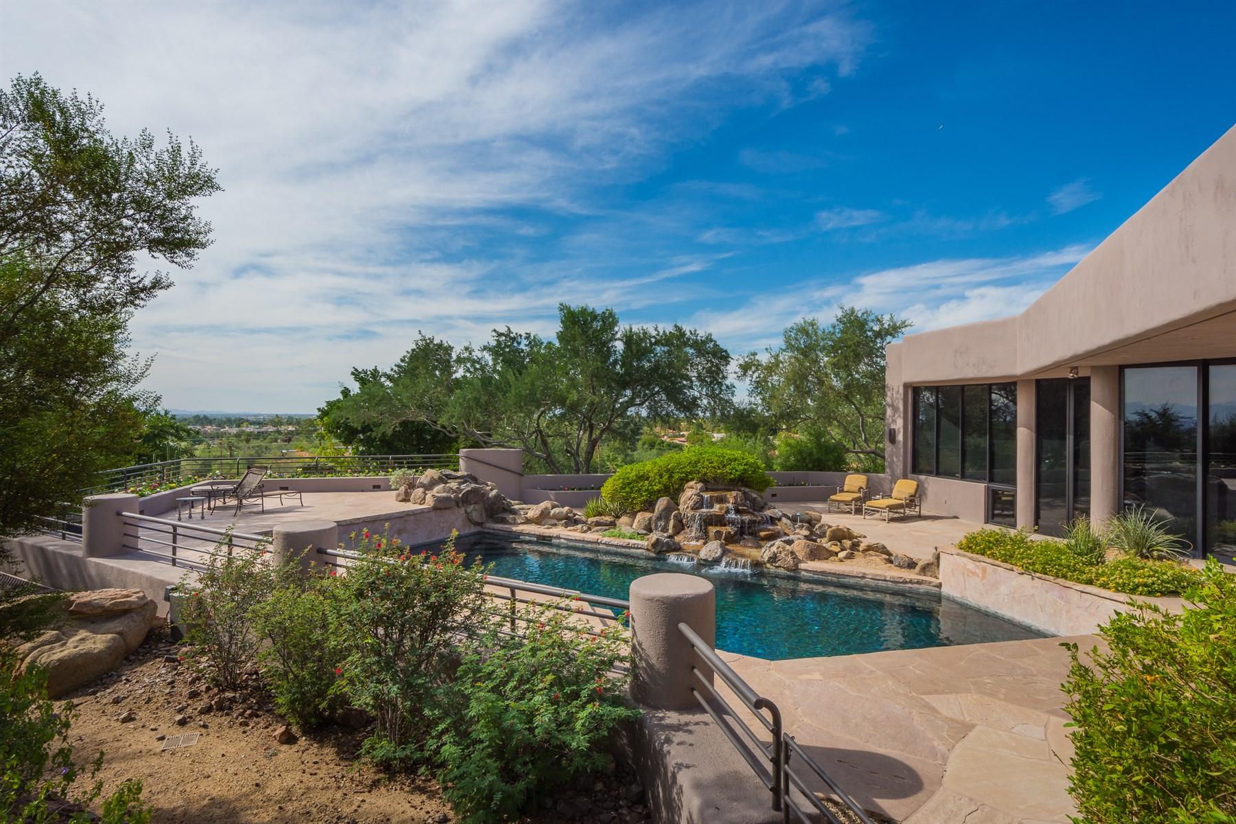 Single Family Home for Sale at Fantastic Executive Retreat Discreetly Tucked Into The Mountain 5913 N La Colina Drive Paradise Valley, Arizona, 85253 United States