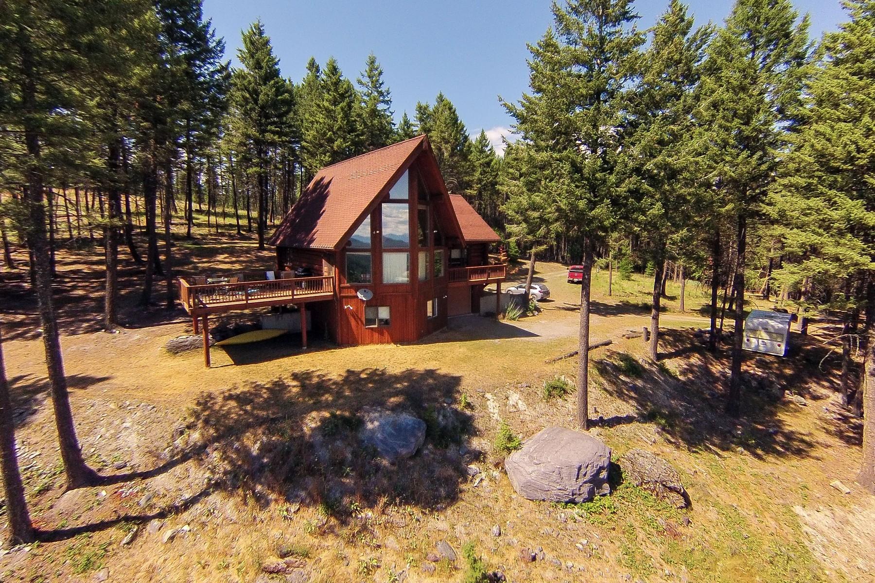 Casa Unifamiliar por un Venta en Top of The World Log Getaway 1138 Swan Hill Drive Bigfork, Montana 59911 Estados Unidos