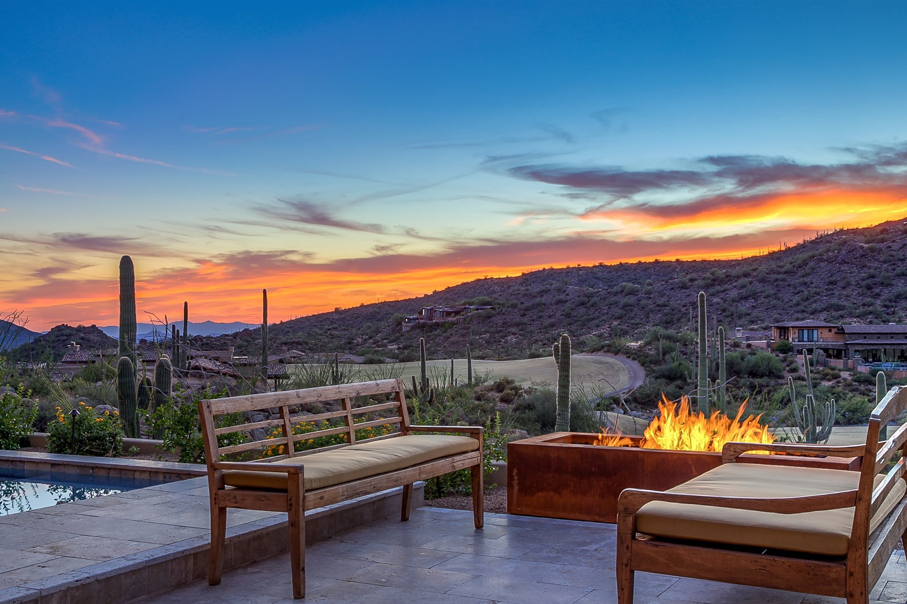 Property For Sale at Elegant Desert Ranch Contemporary new build overlooking the 15th hole