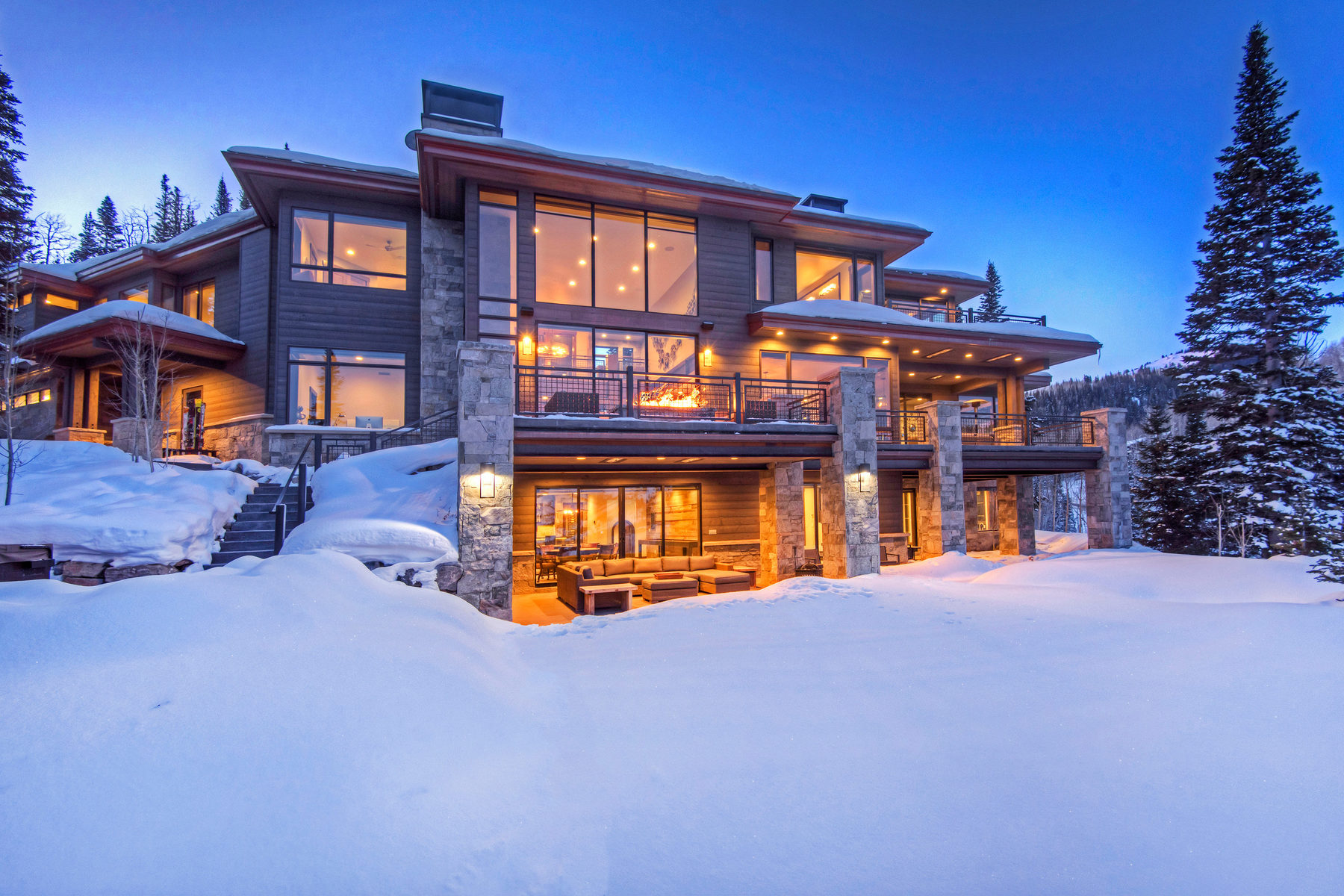 Single Family Home for Sale at State of the Art Mountain Contemporary 206 White Pine Canyon Rd Park City, Utah 84060 United States