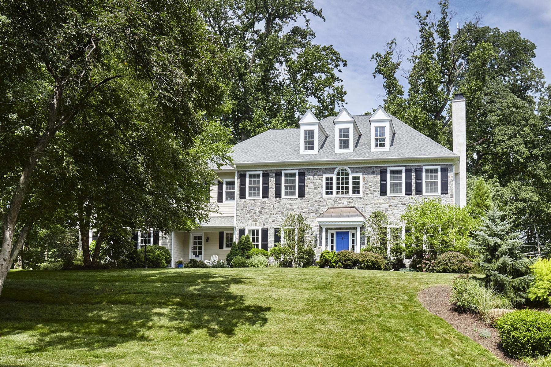 Single Family Home for Sale at Custom Stone Manor Home 799 Robinhood Road Bryn Mawr, Pennsylvania 19010 United States