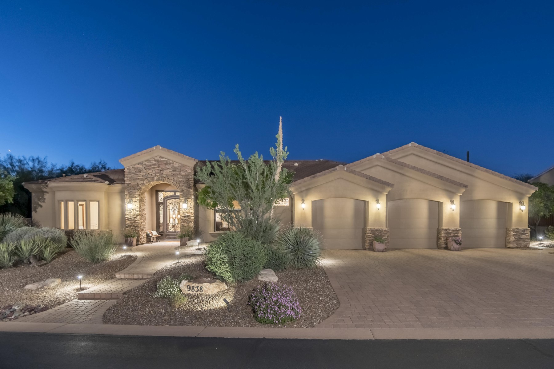 Single Family Home for Sale at Absolutely impeccable custom home in Monument at Troon North 9838 E Monument Dr Scottsdale, Arizona, 85262 United States