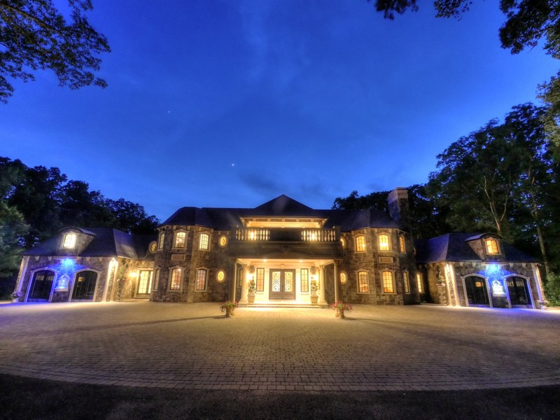 Single Family Home for Sale at Exquisite Stone Mansion 105 Chestnut Ridge Road Saddle River, New Jersey 07458 United States