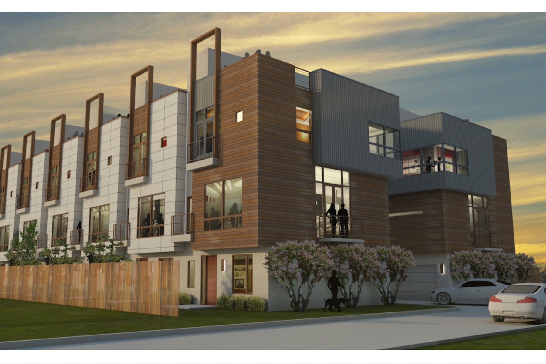 共管物業 為 出售 在 Modern Ecofriendly Townhomes 5912 Ross Ave 7 Dallas, 德克薩斯州, 75206 美國