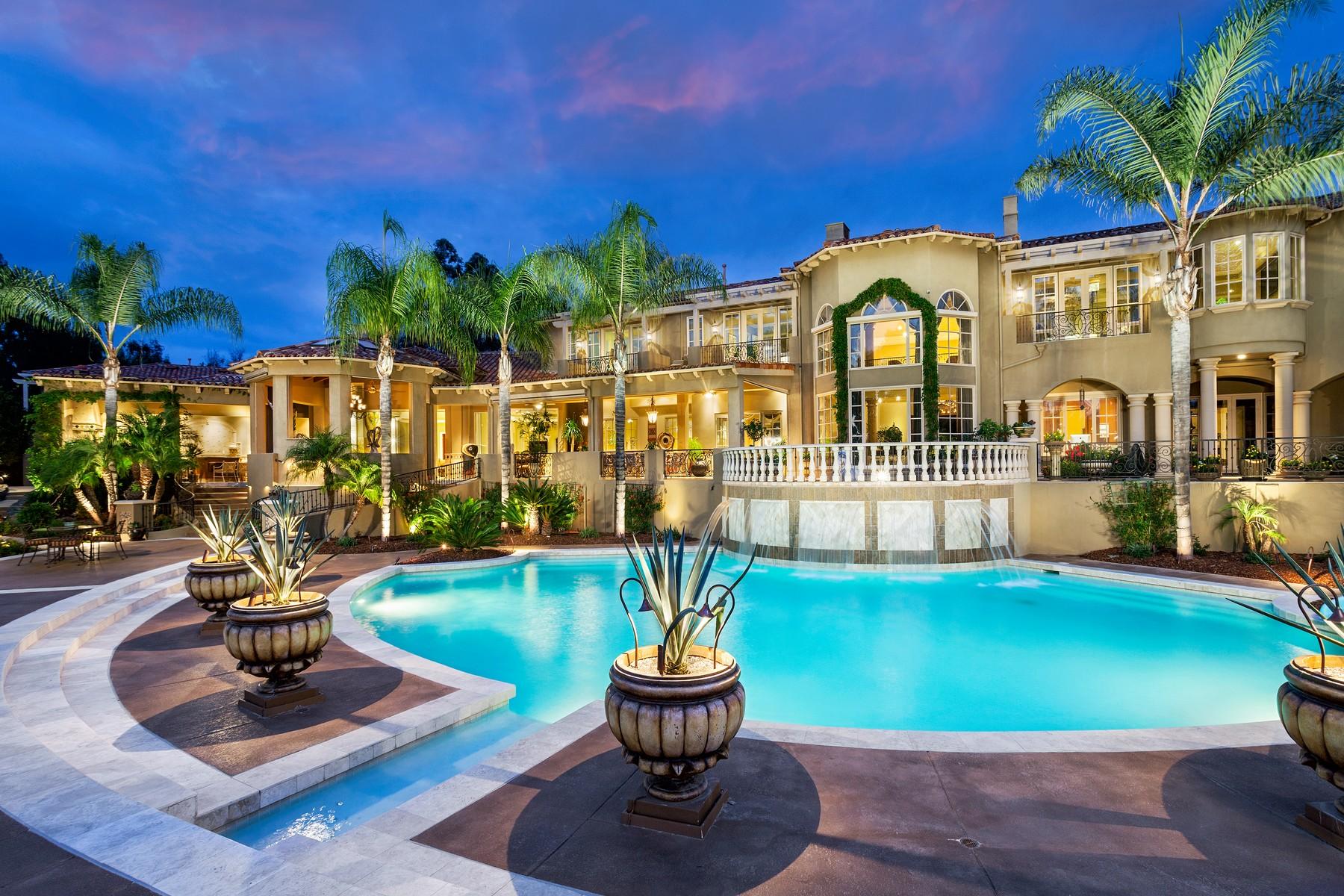Maison unifamiliale pour l Vente à 16603 Avenida Molino Viejo Rancho Santa Fe, Californie 92067 États-Unis