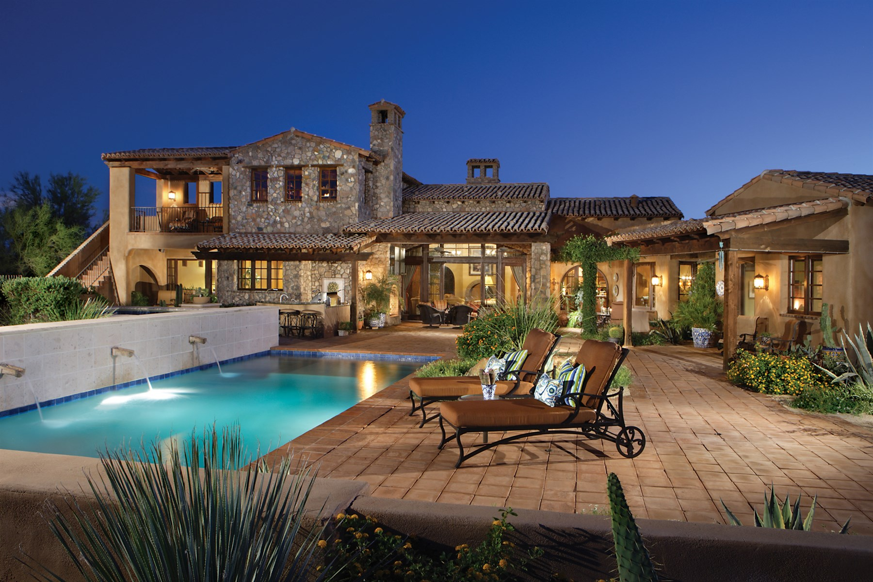 sales property at Custom Spanish Colonial Retreat On 6th Fairway In Whisper Rock Estates
