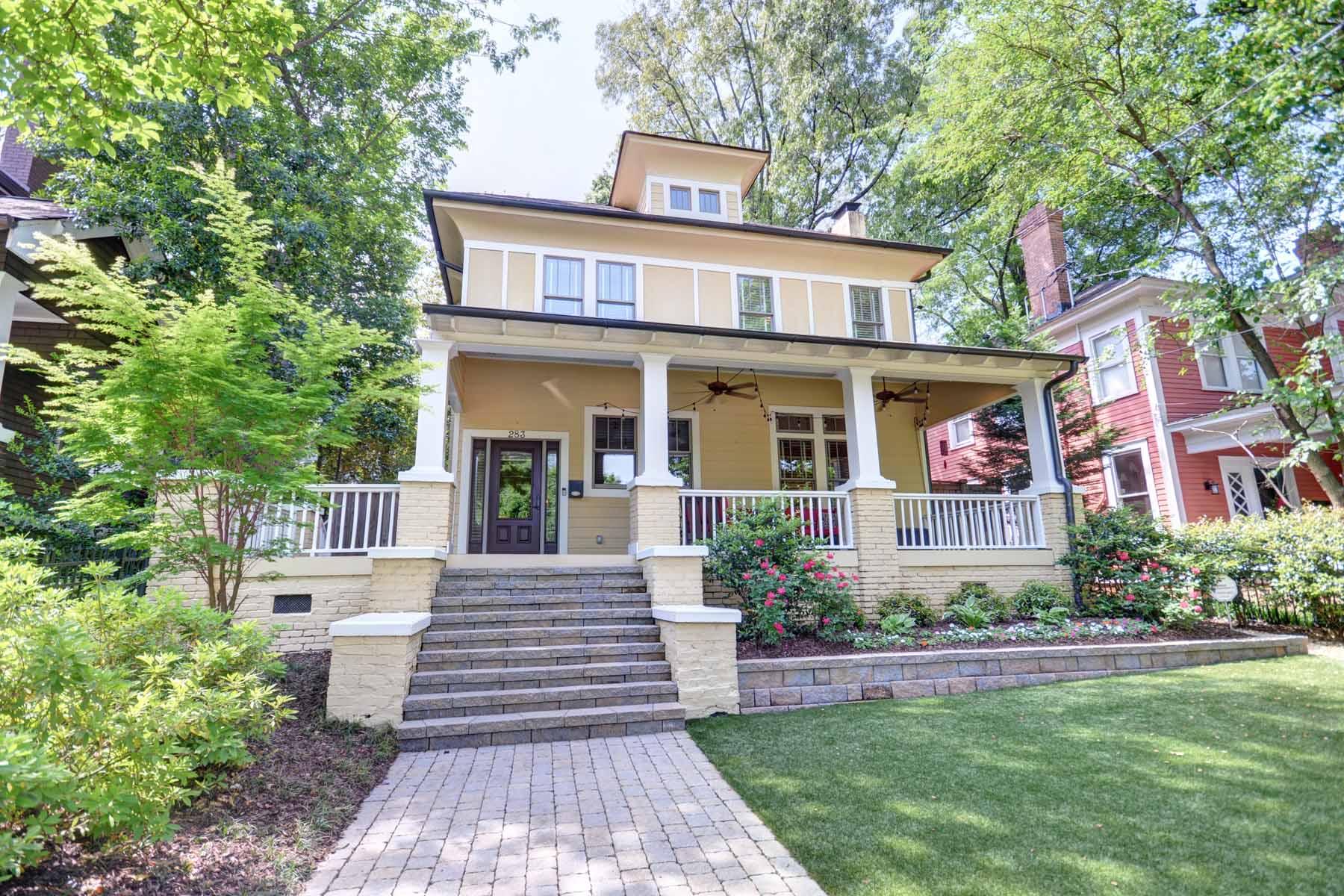 단독 가정 주택 용 매매 에 Beautifully Renovated Home on one of Midtown's Best Streets! 283 9th Street NE Midtown, Atlanta, 조지아, 30309 미국