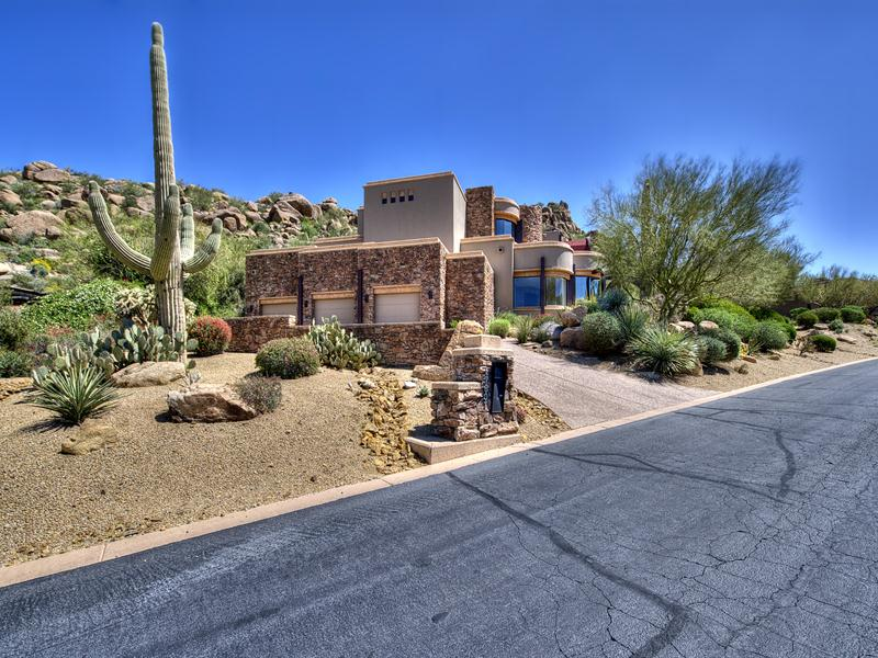 Single Family Home for Sale at Contemporary Design in Estancia 27807 N 103rd Place Scottsdale, Arizona, 85262 United States