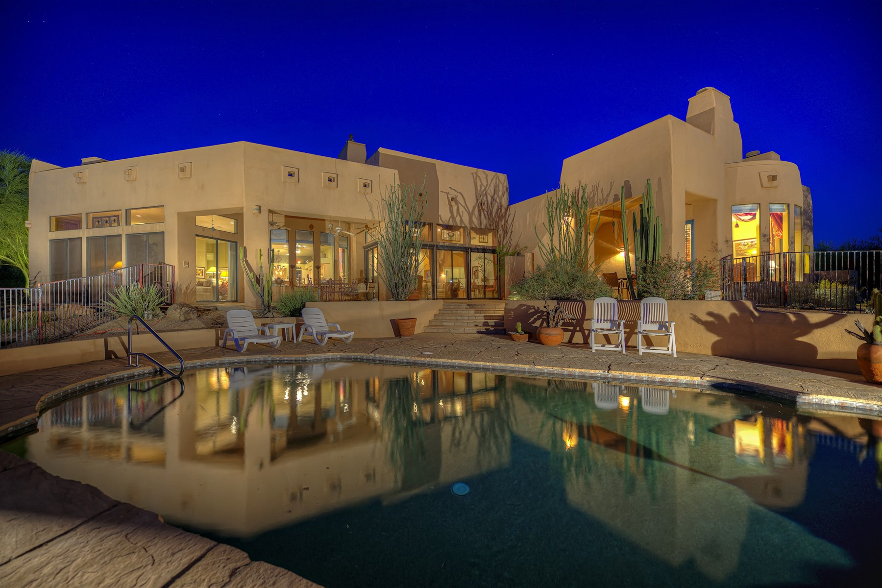 sales property at Contemporary Territorial with Fabulous Views in North Scottsdale