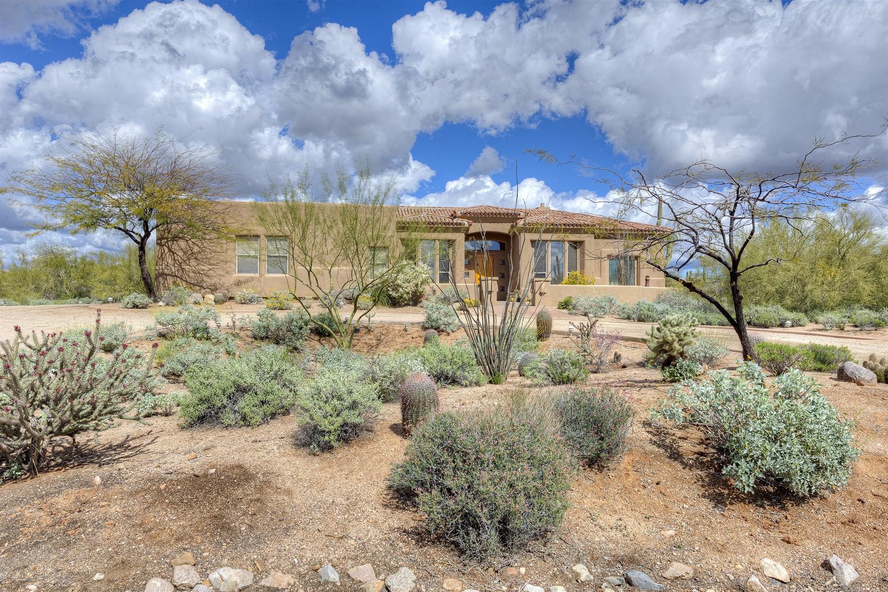 Casa Unifamiliar por un Venta en Wonderful North Scottsdale Home in Gated Community of Lone Mountain Vista 7498 E Milton Drive Scottsdale, Arizona 85266 Estados Unidos