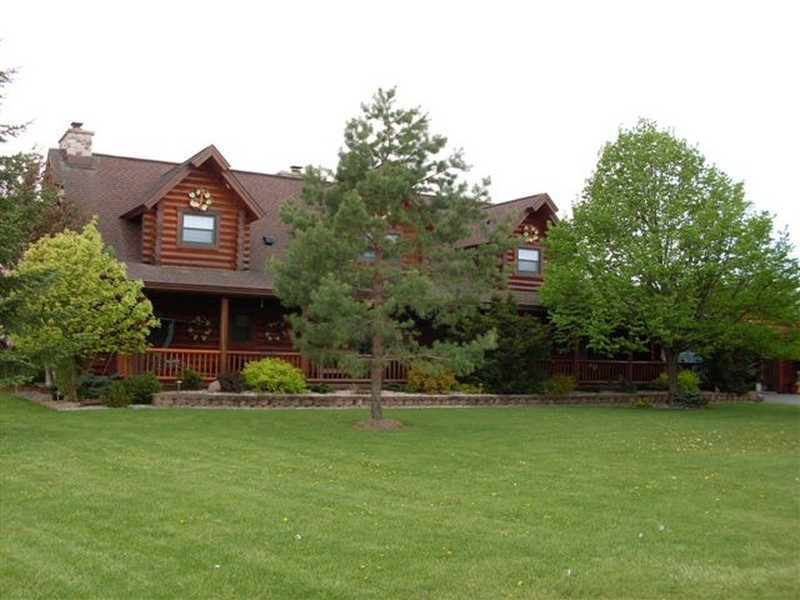 Property For Sale at Custom Built Northern Michigan Log Home