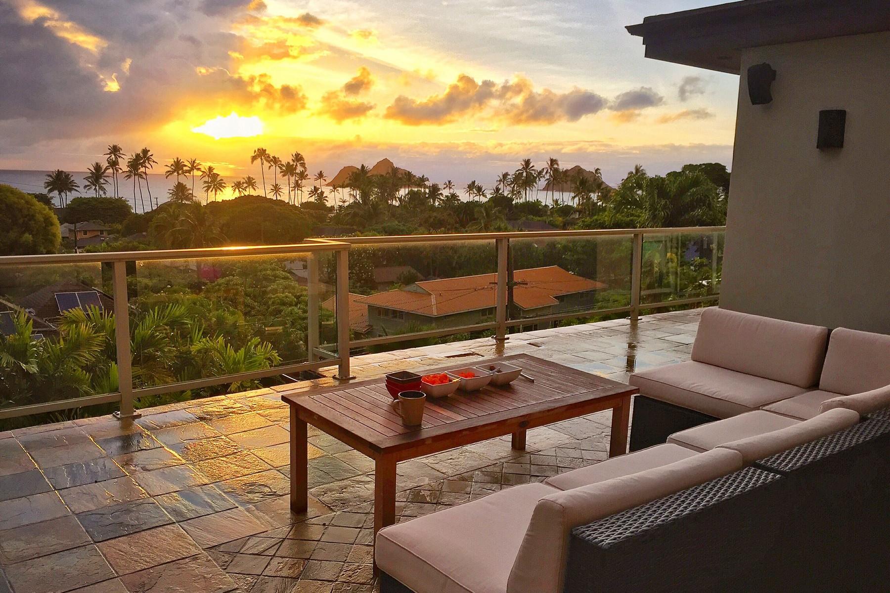 Maison unifamiliale pour l Vente à Lanikai Gem, Stunning Ocean Views. 1077 Aalapapa Dr Kailua, Hawaii, 96734 États-Unis