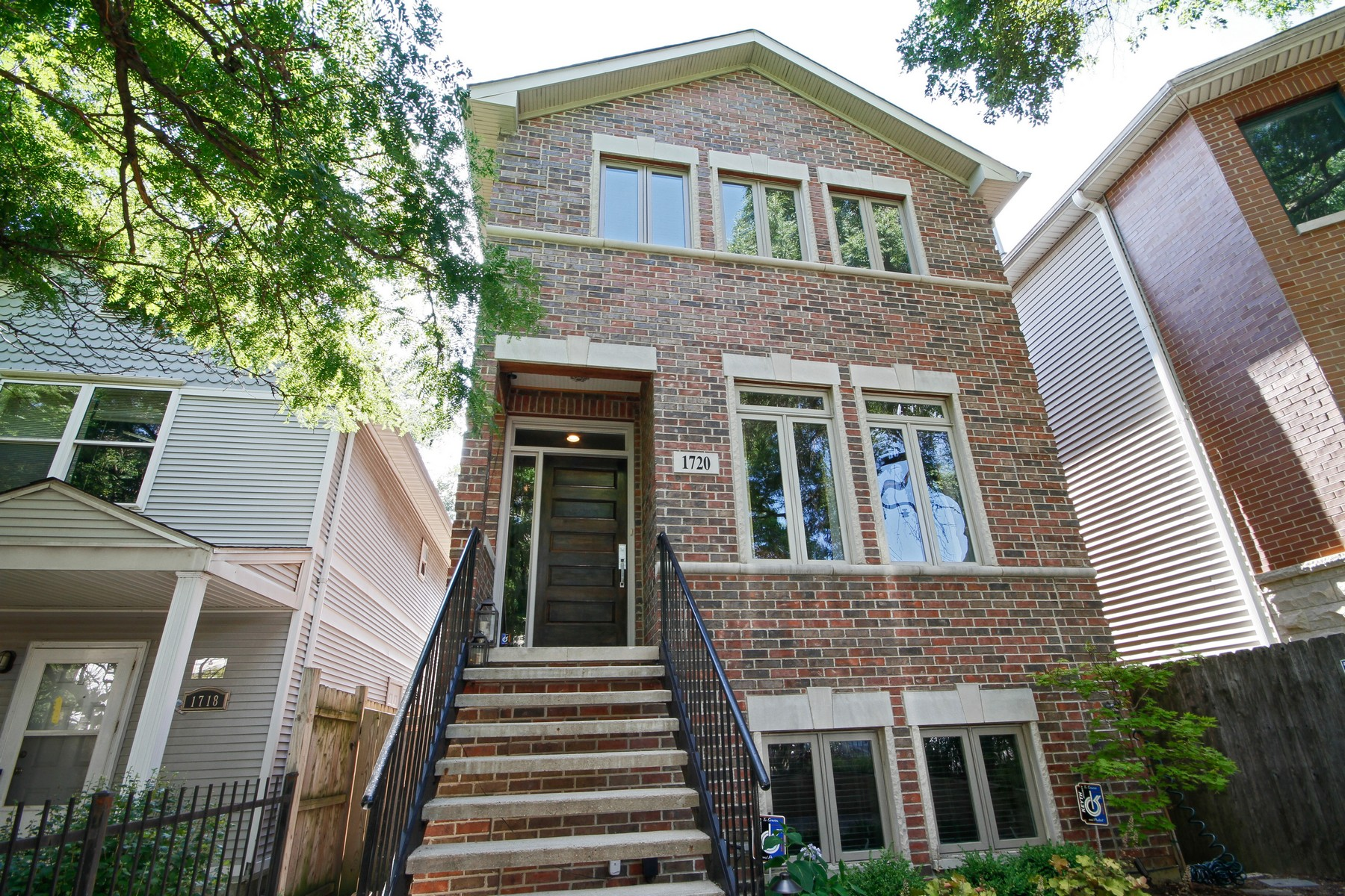Single Family Home for Sale at Brick and Limestone Home in West Bucktown 1720 N Maplewood Avenue Logan Square, Chicago, Illinois, 60647 United States