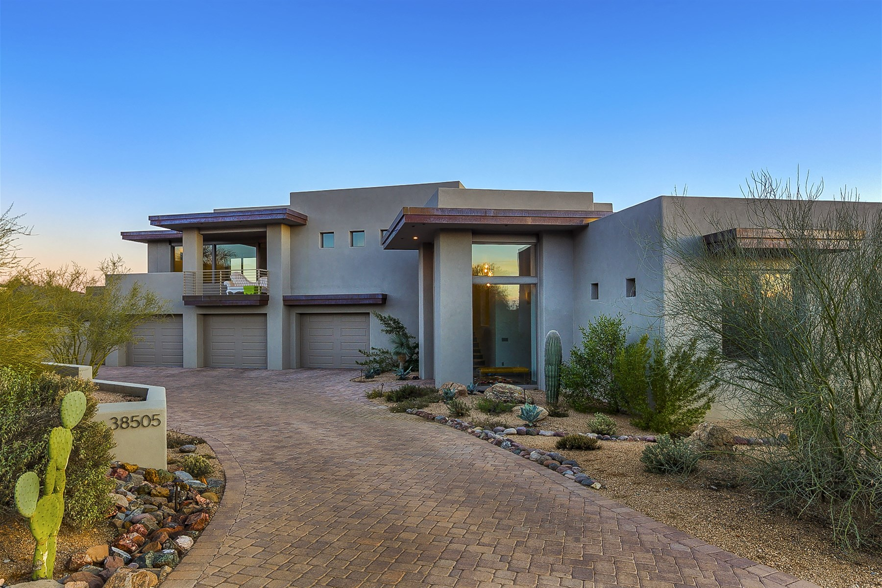 sales property at Chic Desert Mountain Contemporary Retreat