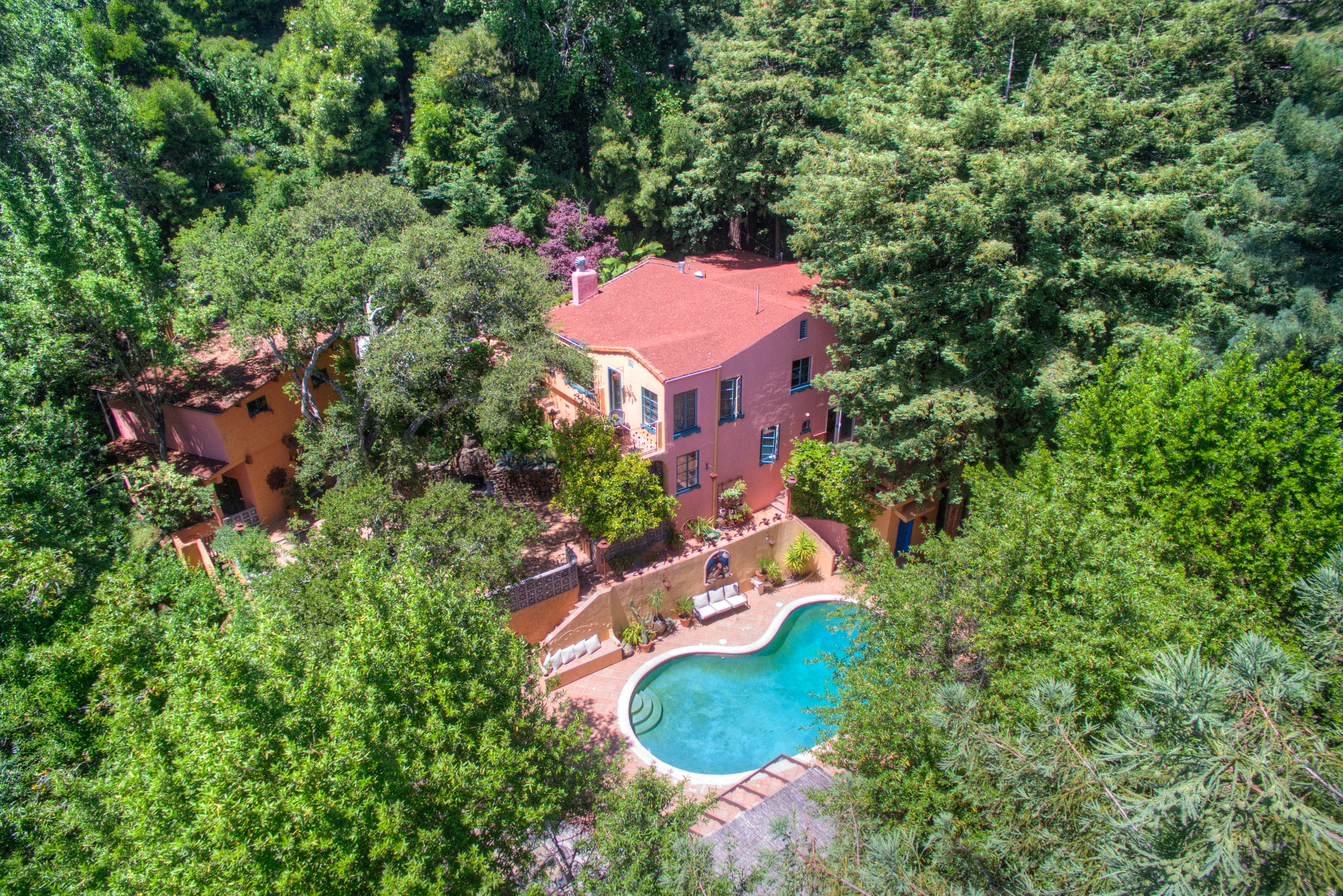 Single Family Home for Sale at Magnificent Middle Ridge Villa 300 Summit Ave Mill Valley, California 94941 United States