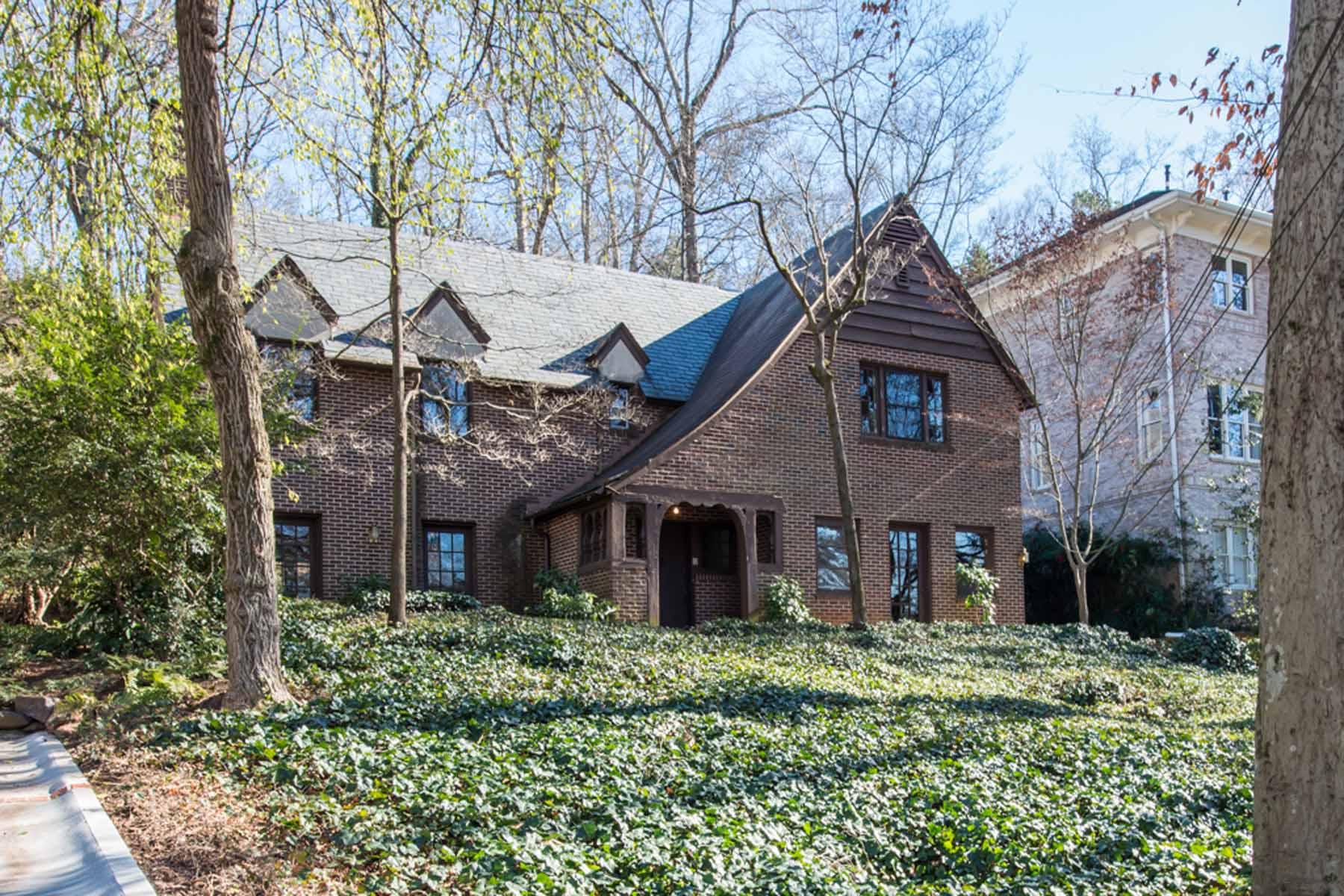 단독 가정 주택 용 매매 에 Historic 1924 Custom Built Tudor on estate lot with authentic Tudor architecture 941 Clifton Road Druid Hills, Atlanta, 조지아, 30307 미국
