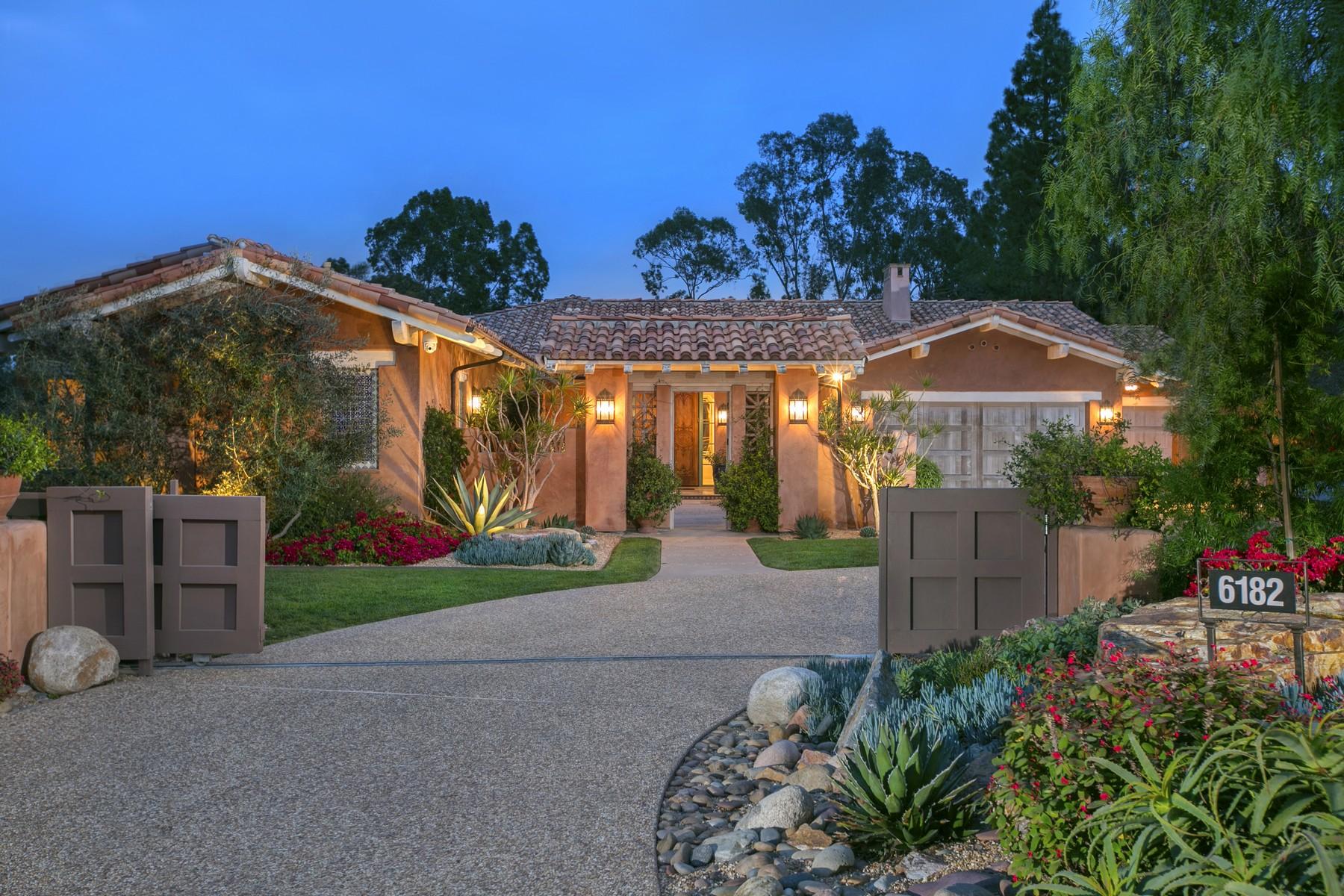 Частный односемейный дом для того Аренда на 6182 Paseo Valencia Rancho Santa Fe, Калифорния 92067 Соединенные Штаты