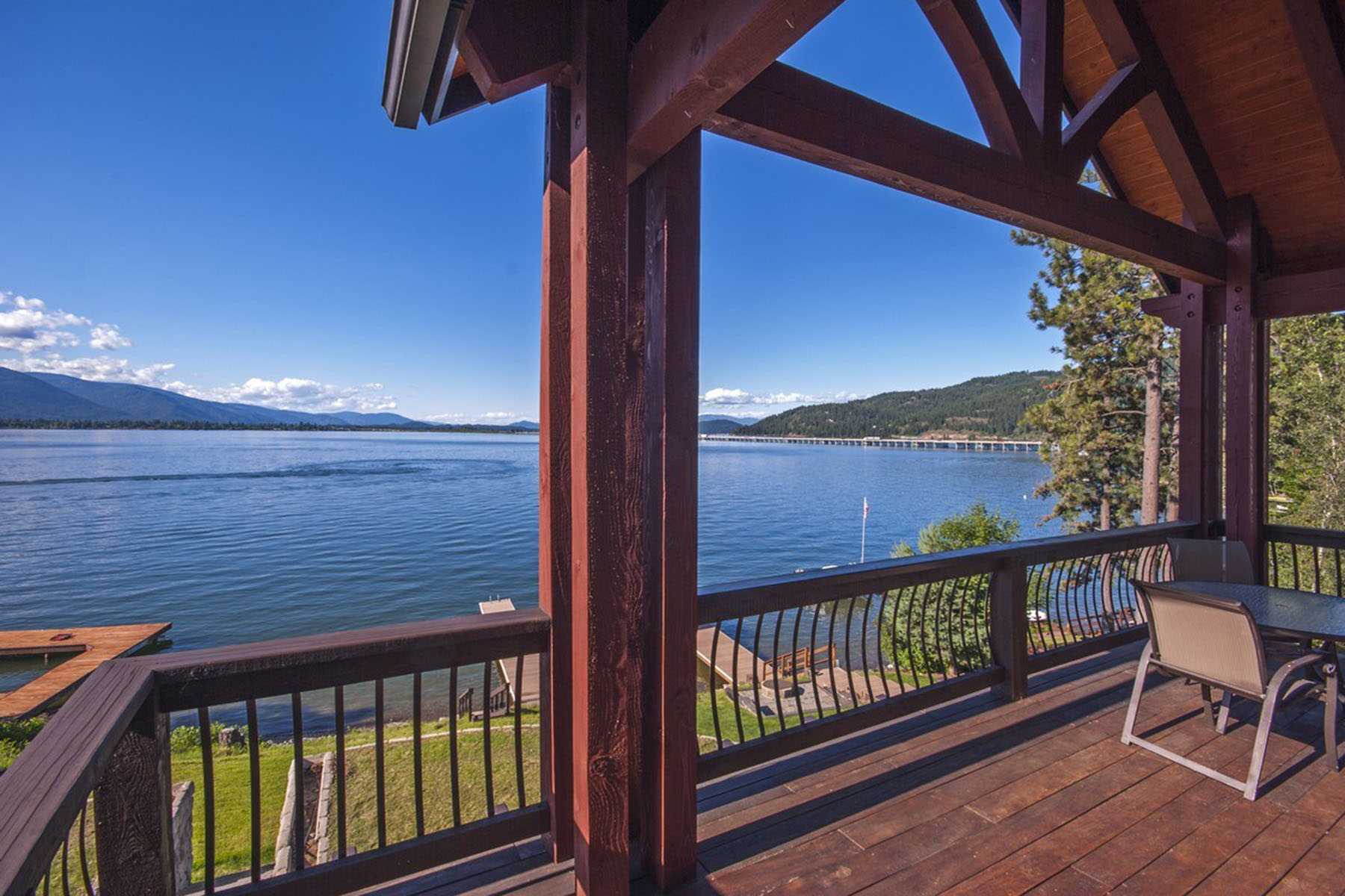 Single Family Home for Sale at Lakeshore Custom Home with Dock 357 Lakeshore Dr Sandpoint, Idaho 83864 United States