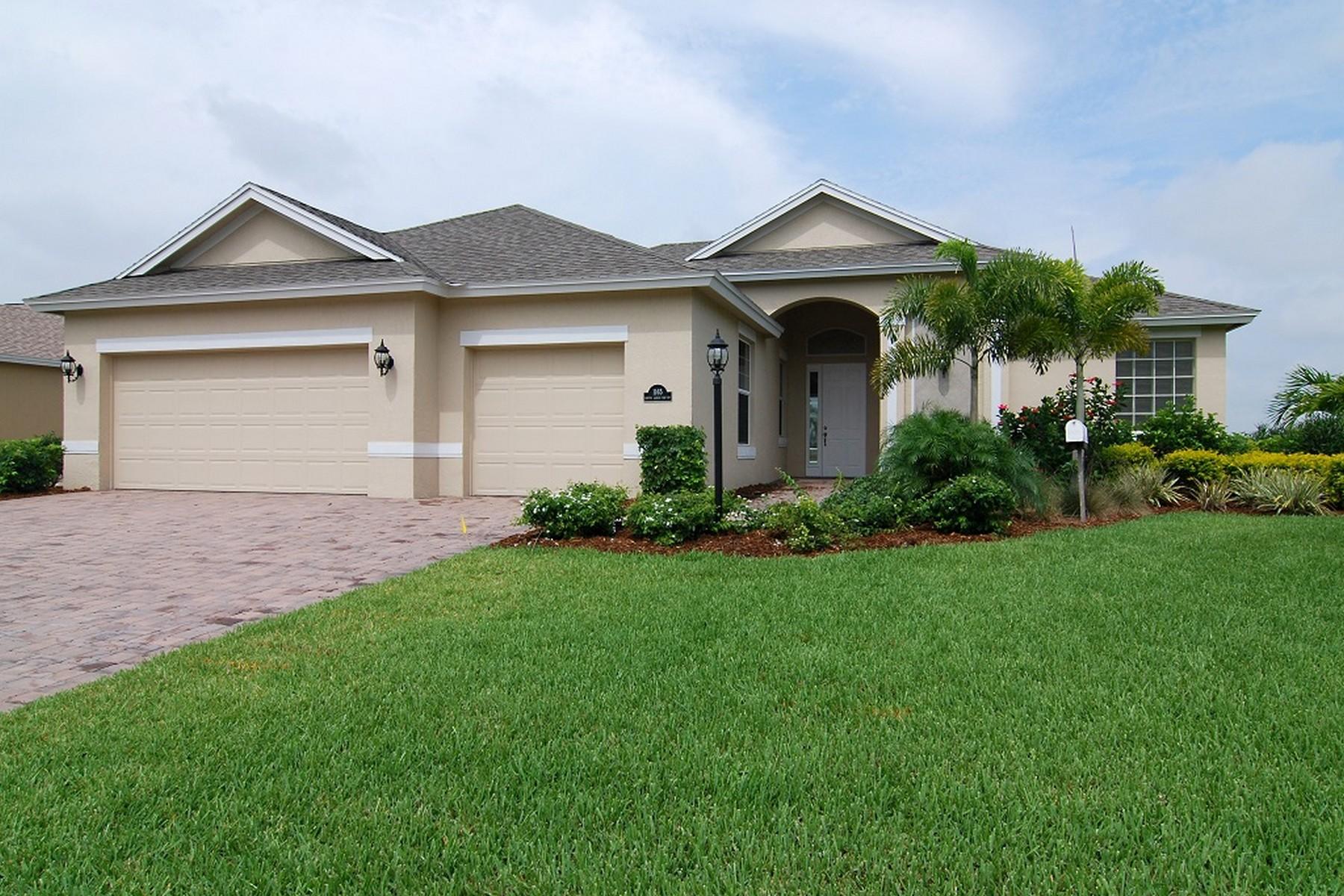 独户住宅 为 销售 在 The Columbia Model 4472 Gagnon Road 圣露西港, 佛罗里达州, 34953 美国