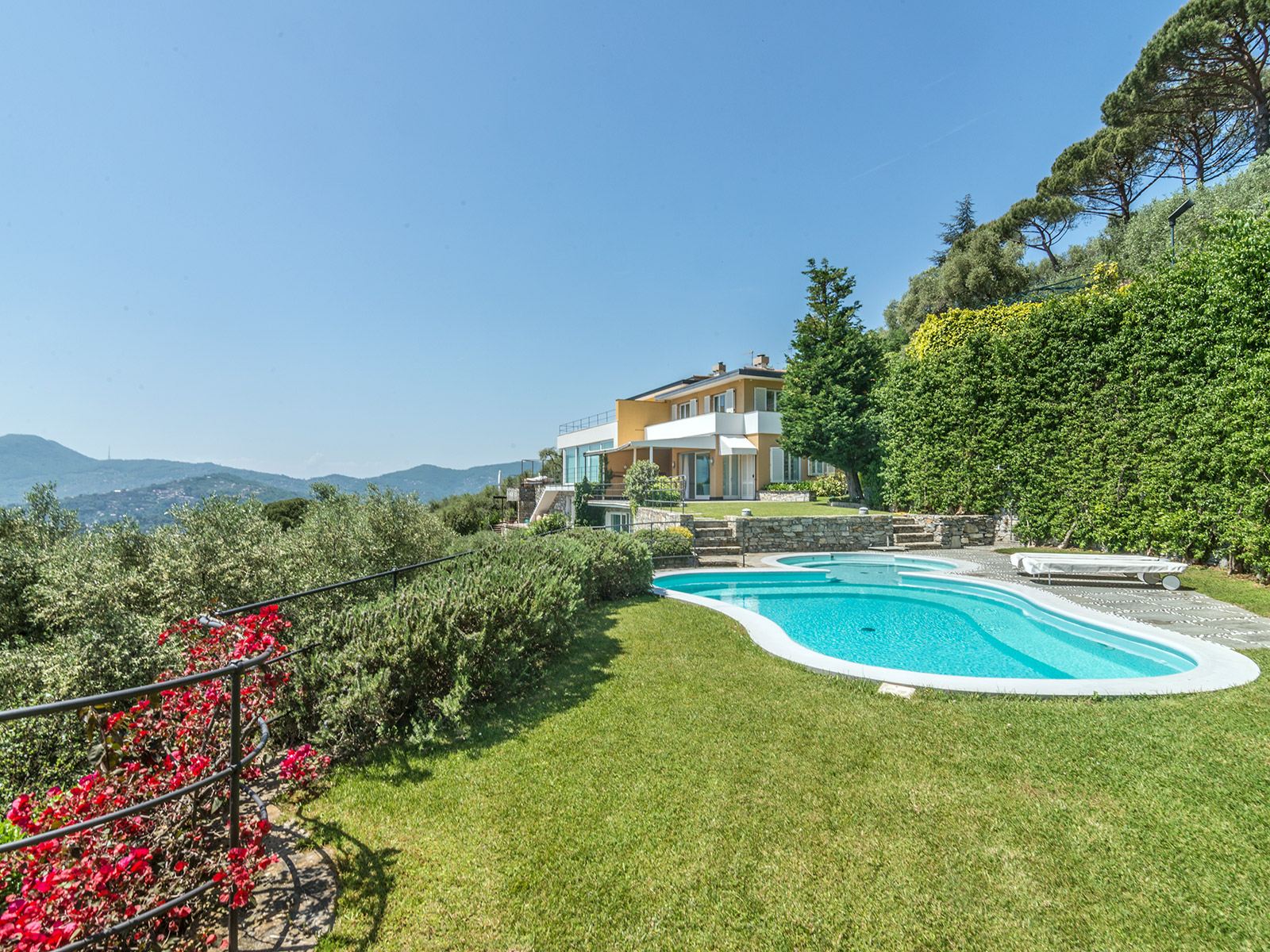 Single Family Home for Sale at Panoramic waterfront villa with pool Via Sant' Ambrogio Zoagli, Genoa 16035 Italy