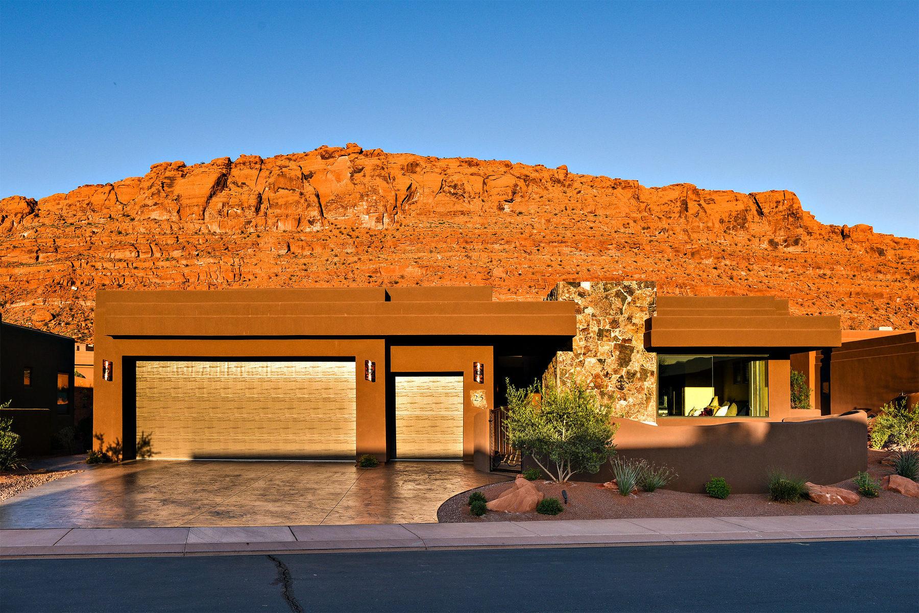 Частный односемейный дом для того Продажа на Serene Luxury 2336 W Entrada Trl #25 St. George, Юта, 84770 Соединенные Штаты