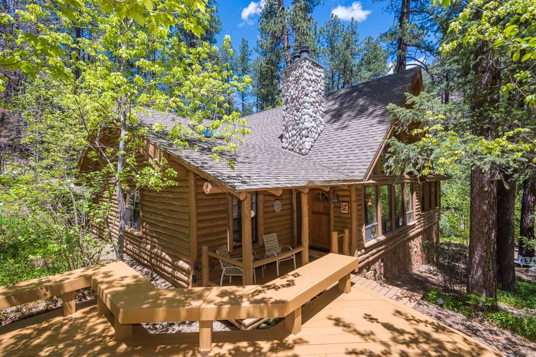 Property For Sale at Log and stone sided home in Oak Creek Canyon