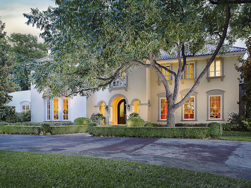 Single Family Home for Sale at Majestic Mediterranean Masterpiece 9700 Audubon Place Dallas, Texas 75220 United States