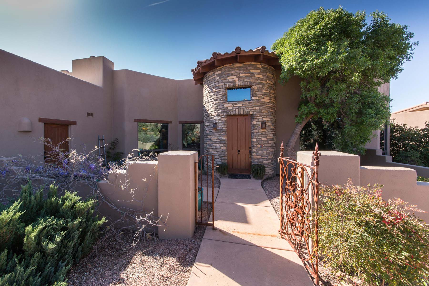 Single Family Home for Sale at home situated within Firecliff's gated community in the village of Oak Creek. 5 High View Drive Sedona, Arizona 86351 United States