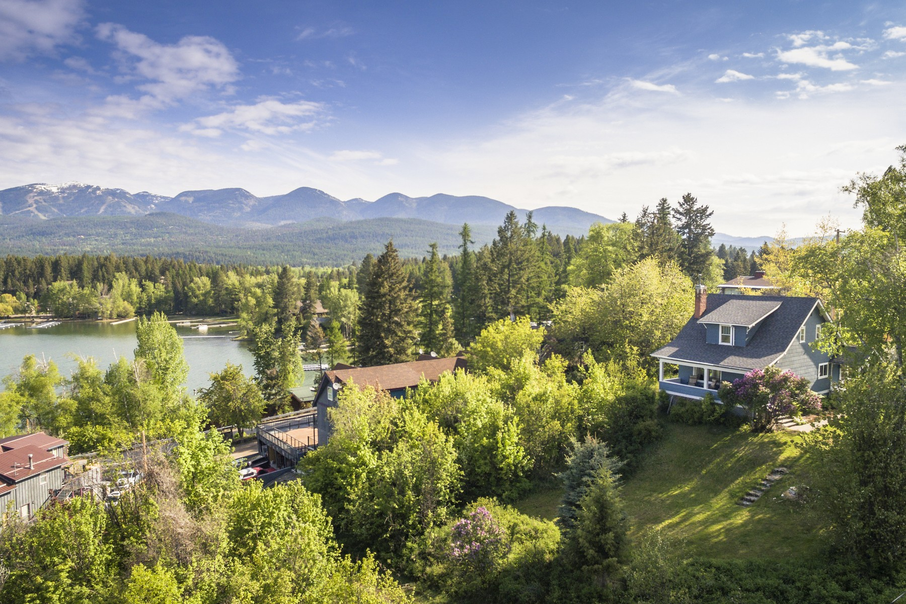 Property For Sale at Hilltop Home Overlooking Whitefish Lake Montana