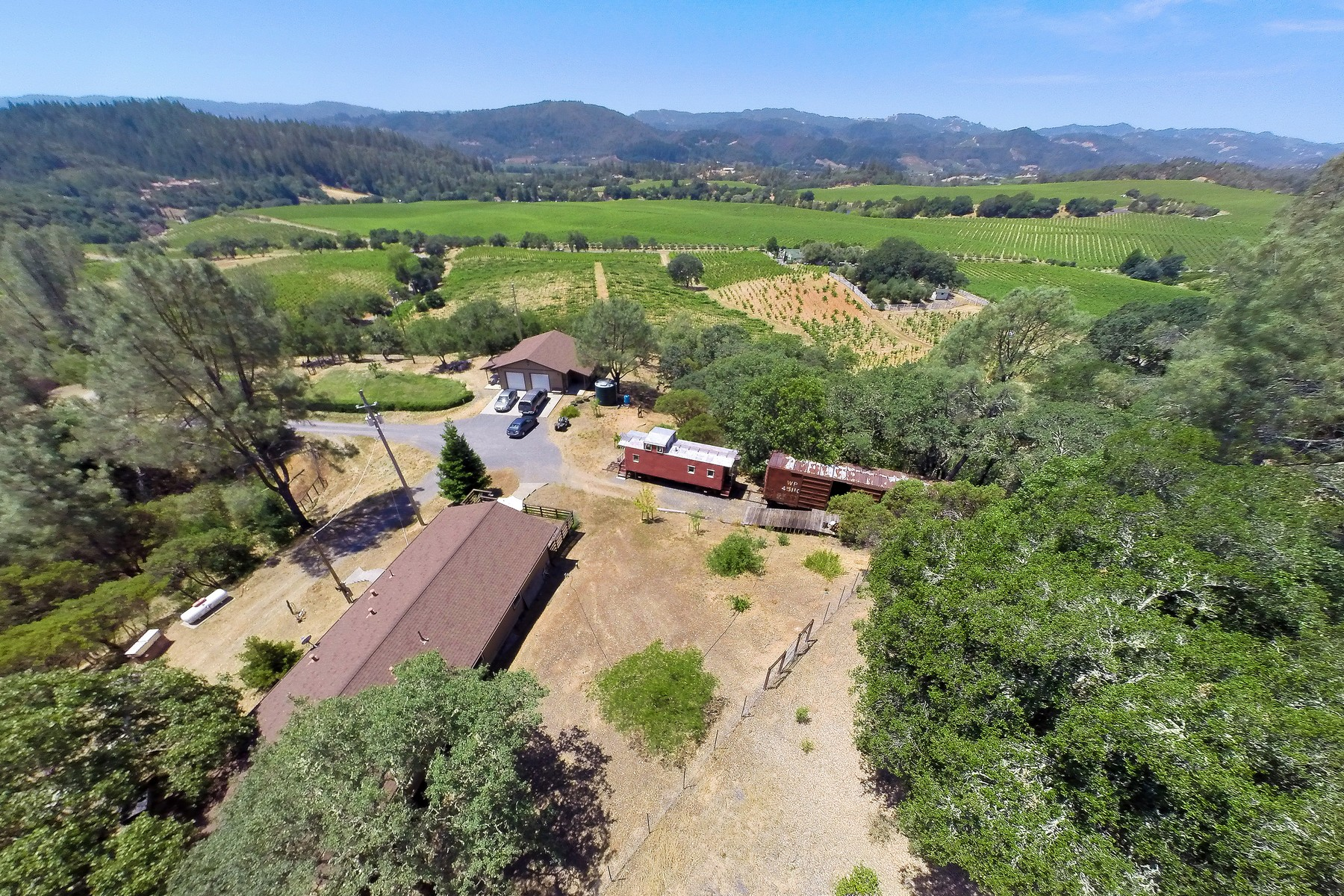 sales property at Carreras Family Caboose Vineyard
