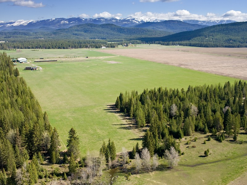 Land for Sale at 40 Level Acres with Views 567 & 573 Twin Bridges Road Whitefish, Montana 59937 United States