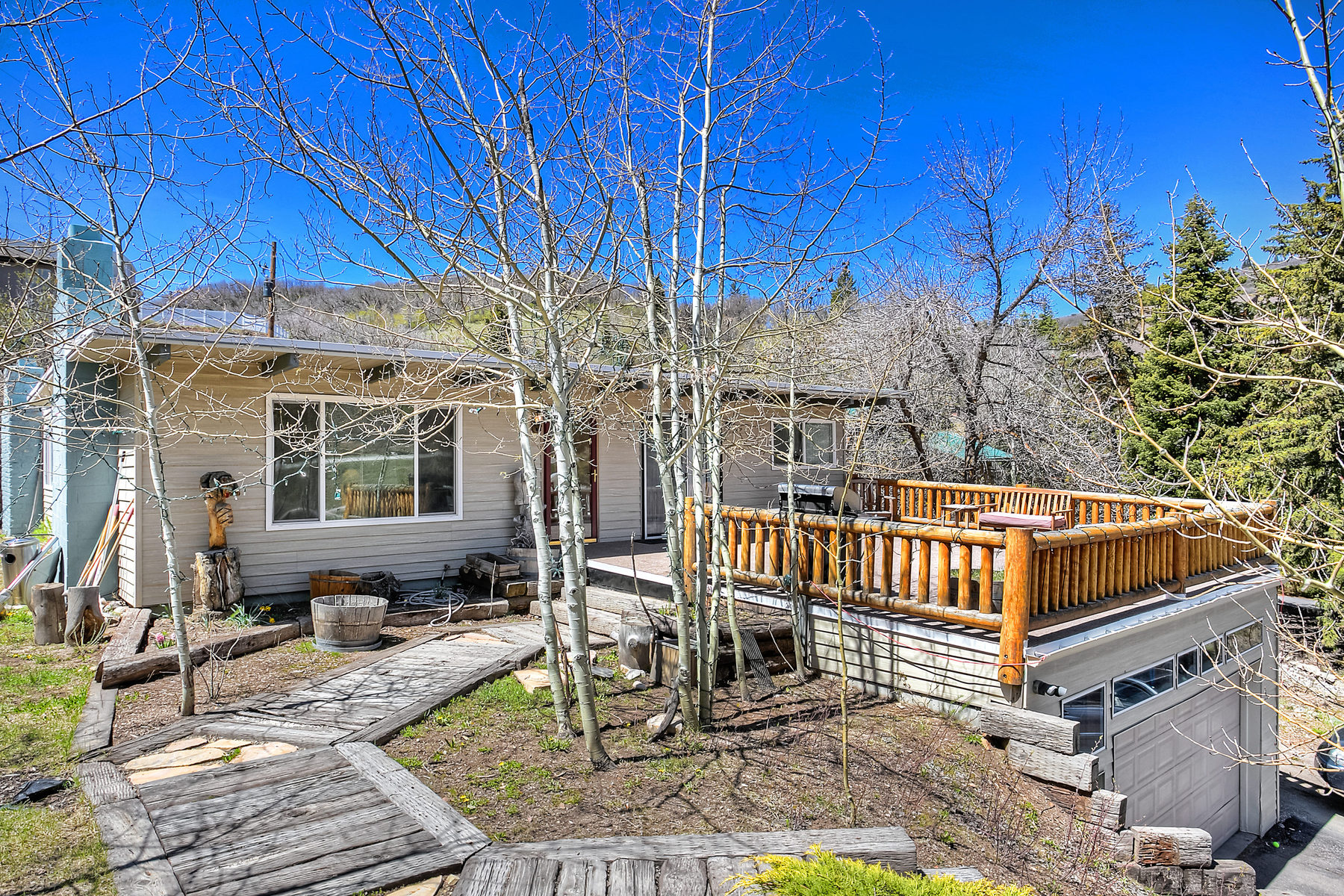 Single Family Home for Sale at Home with Rustic Feel and trees in Summit Park 140 Parkview Dr Park City, Utah 84098 United States
