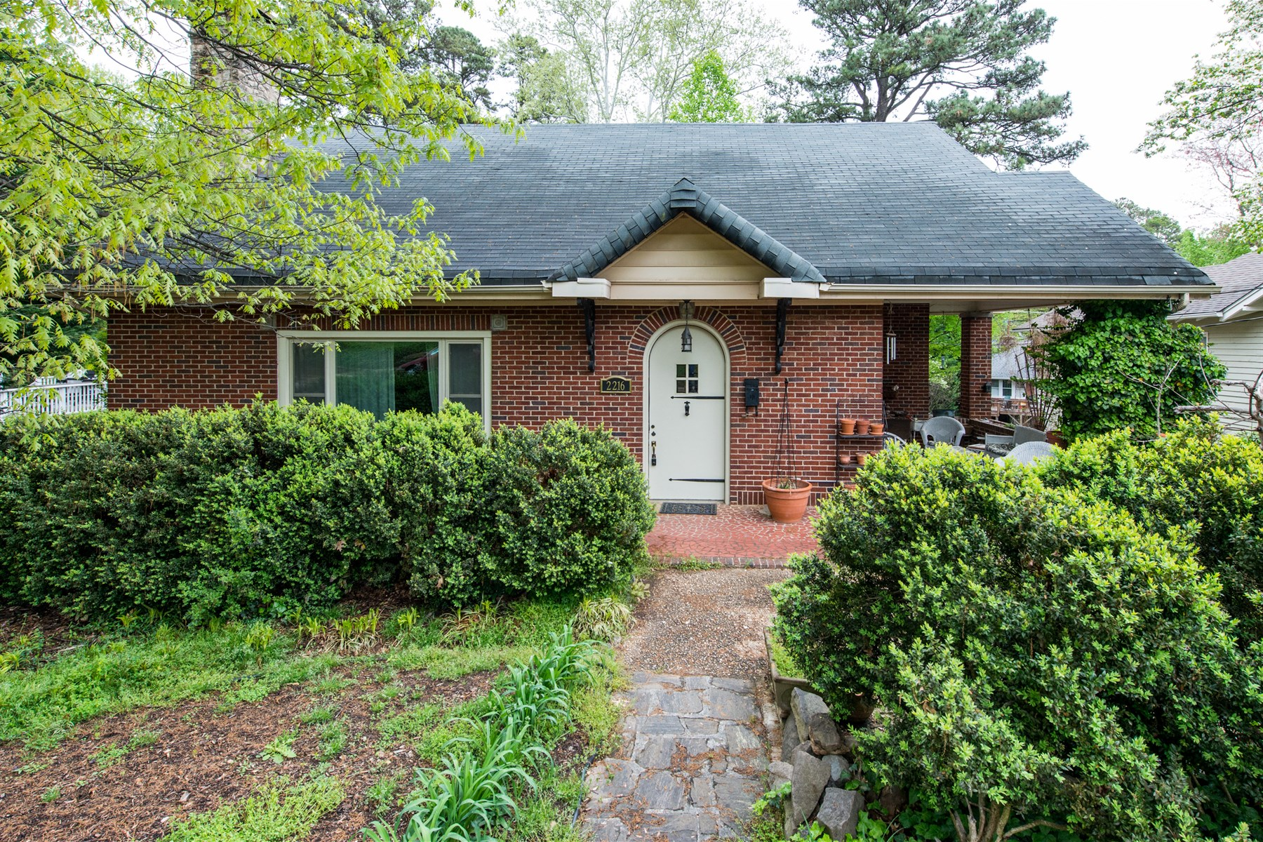 Single Family Home for Sale at Charming ITB Brick Traditional Ranch 2216 Creston Rd. Raleigh, North Carolina 27608 United States