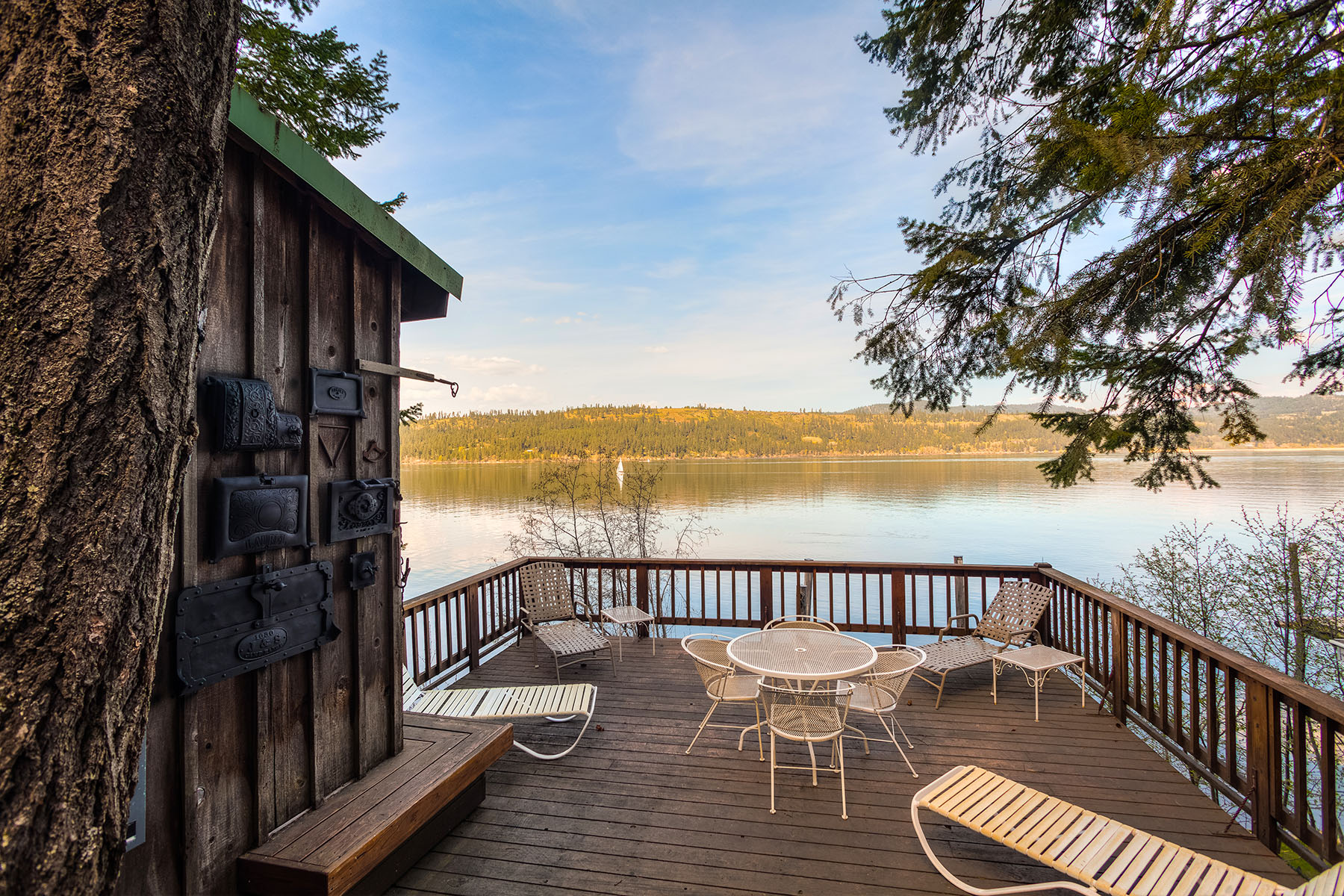 Property For Sale at Rustic Cabin on Lake Coeur d'Alene